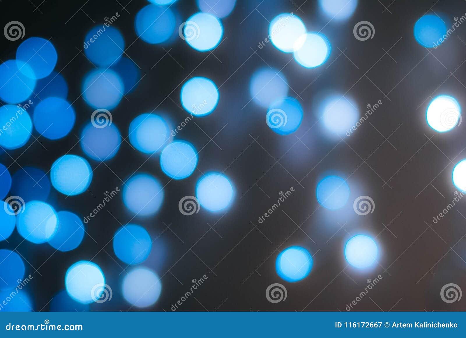 Bokeh brillante de luces azules