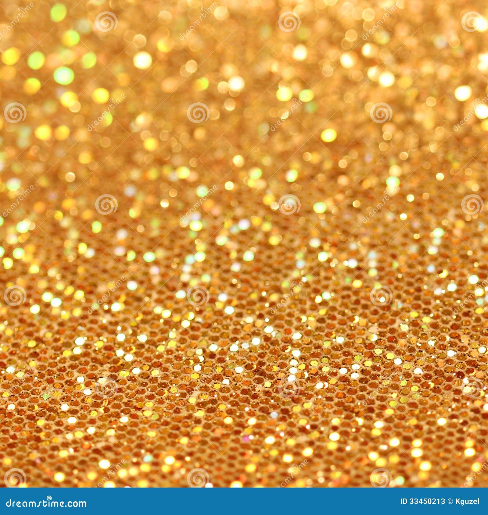 Bokeh. Christmas Gold Blinking Background Stock Photos - Image ...