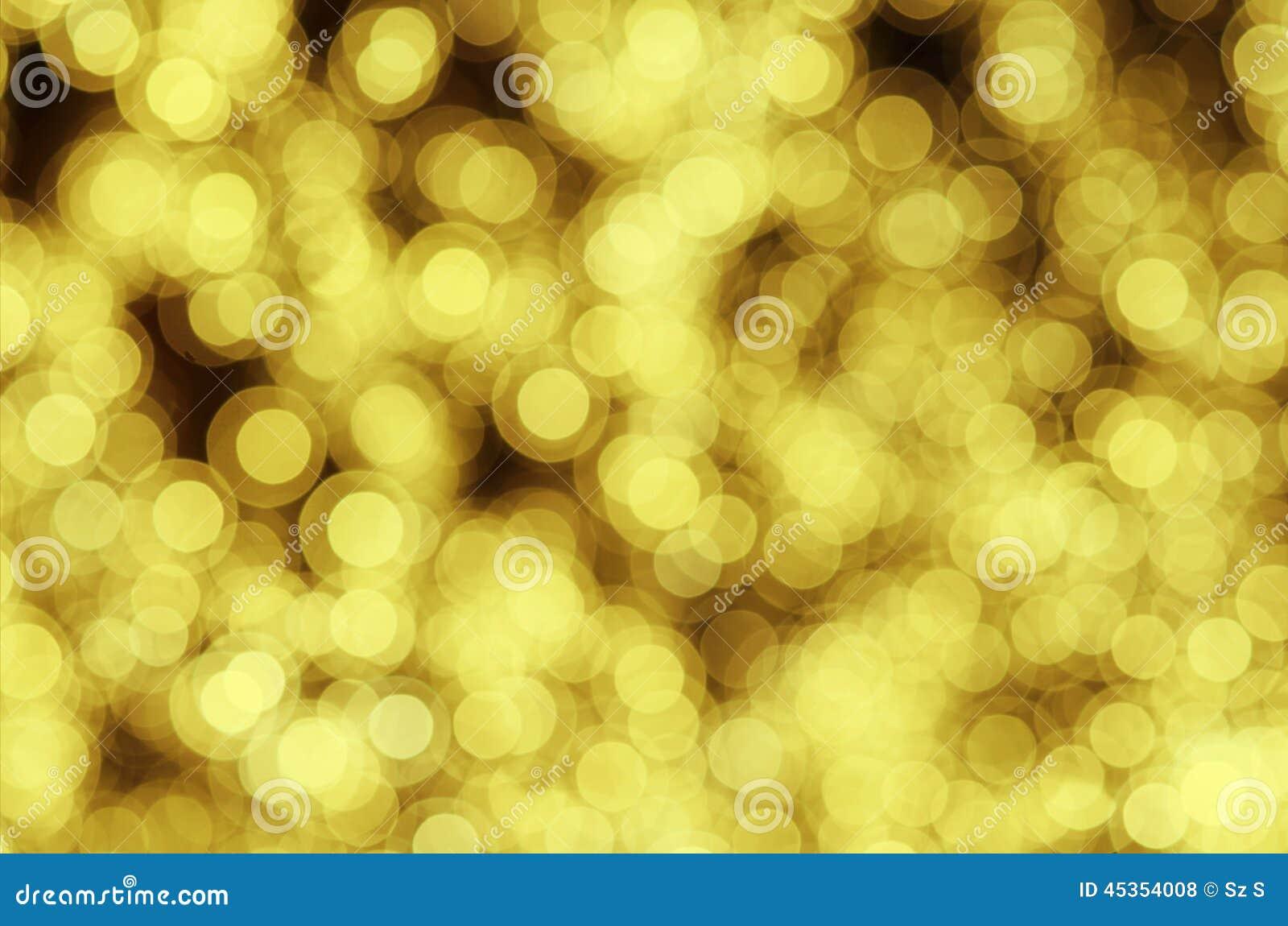 Bokeh d or pour le fond