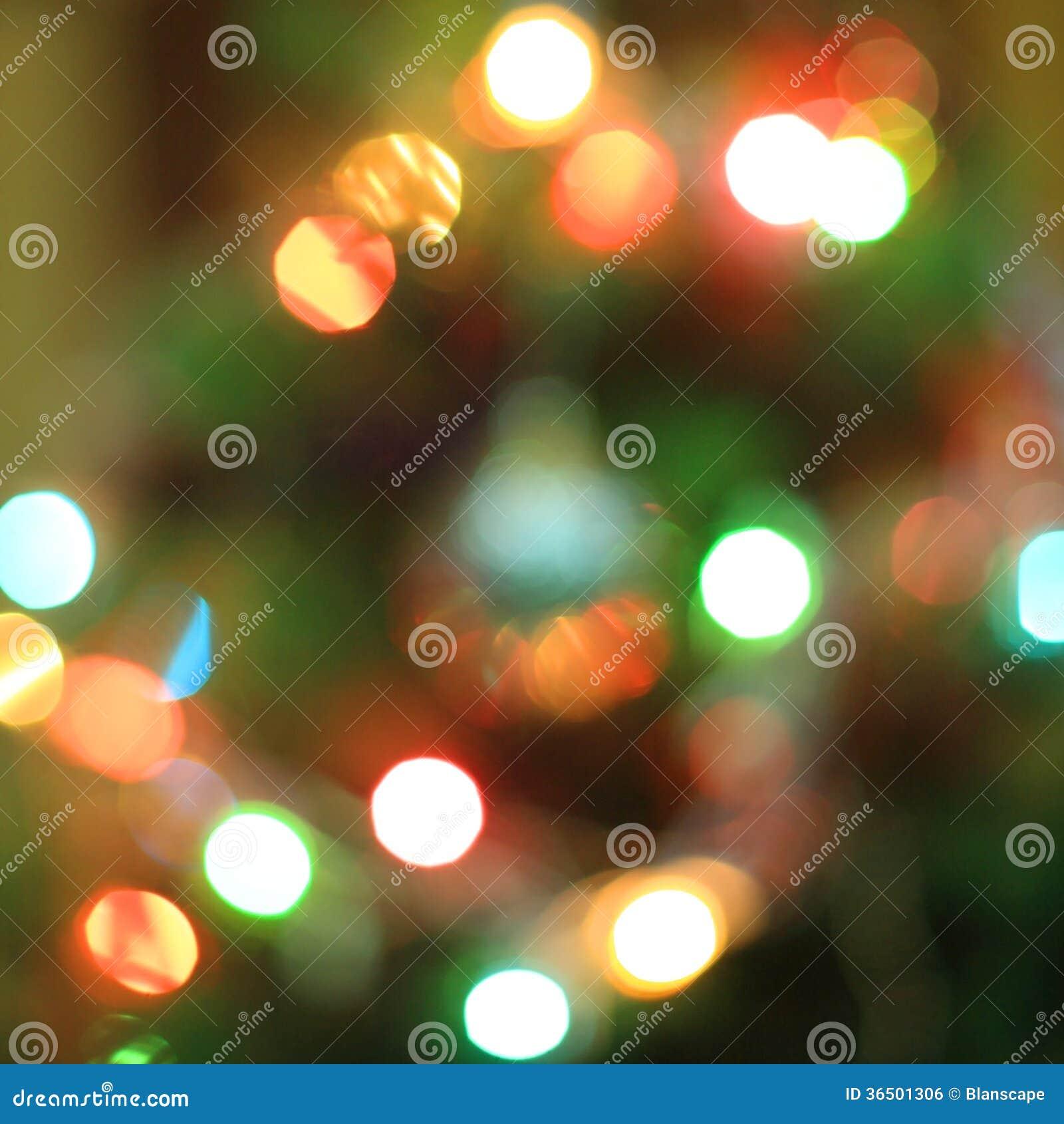 Bokeh da árvore de Natal