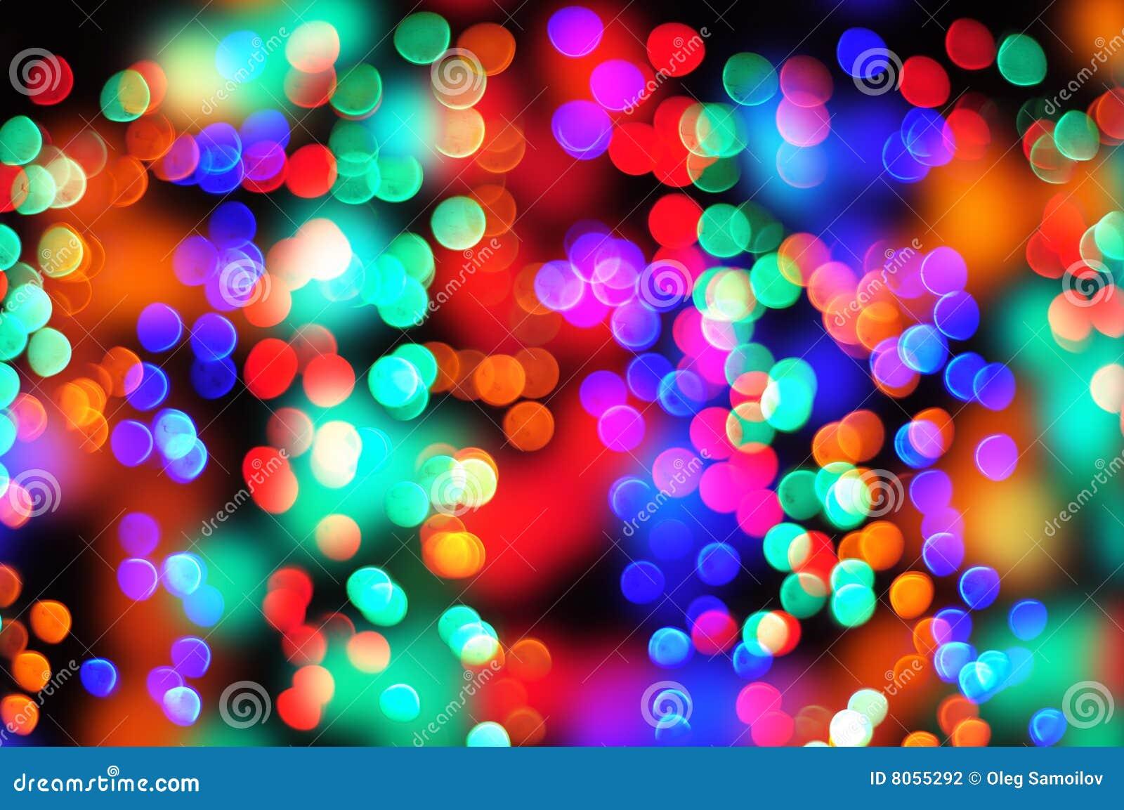 Bokeh de couleur de Noël illustration stock. Illustration du noir