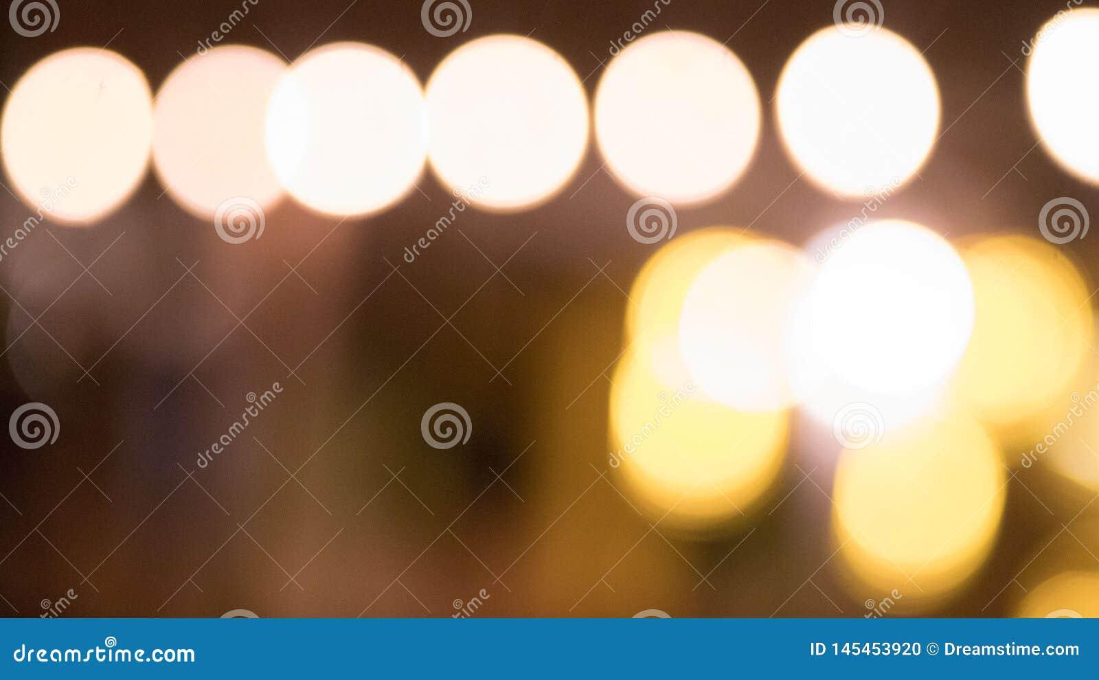 Bokeh de iluminação alaranjado