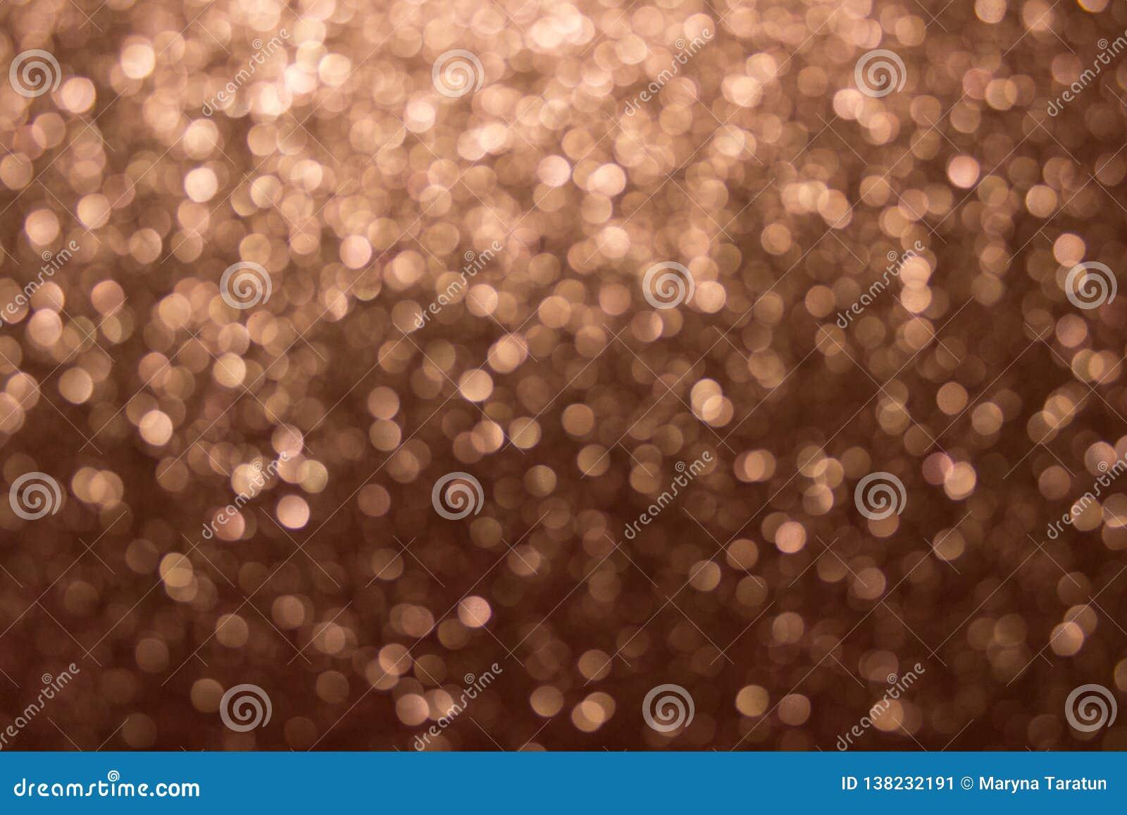 Bokeh del oro, fondo abstracto creado por las luces de neón