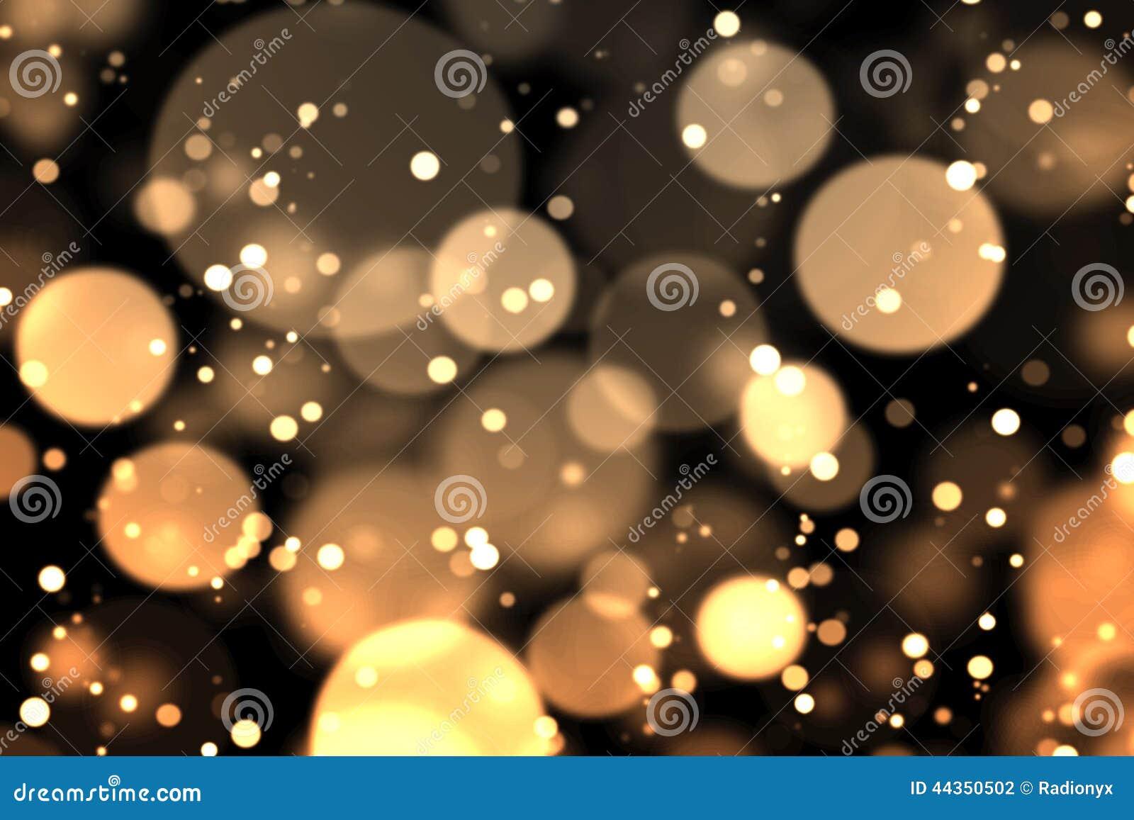 Bokeh dell oro nello scuro