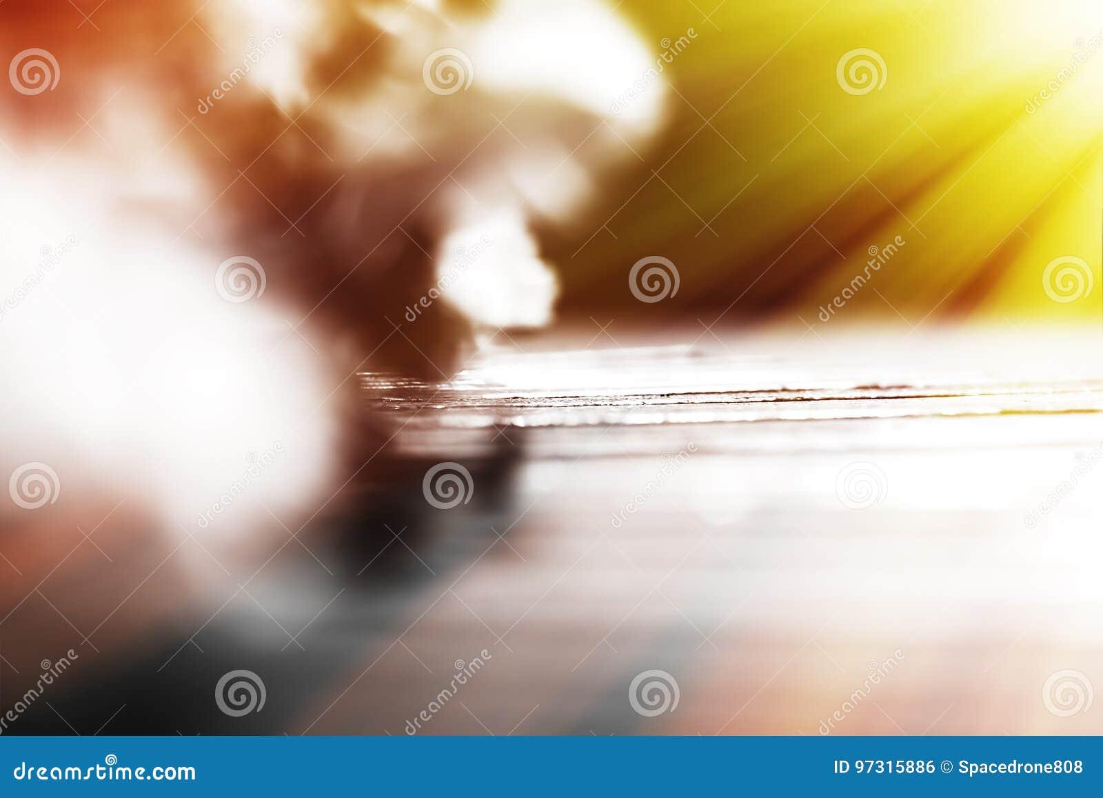 Bokeh diagonal de banc avec le fond clair de fuite
