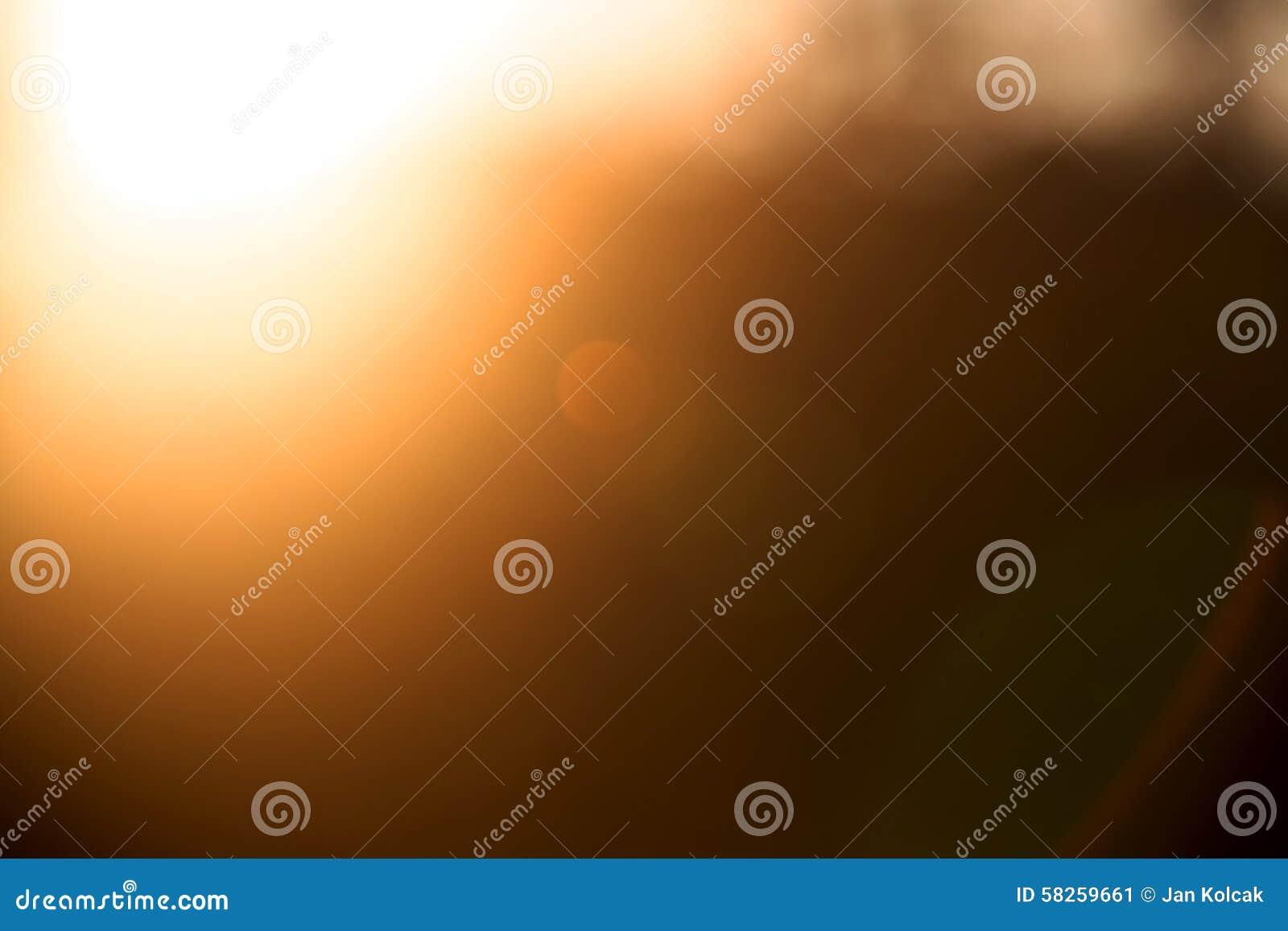 Bokeh liść z światłem słonecznym