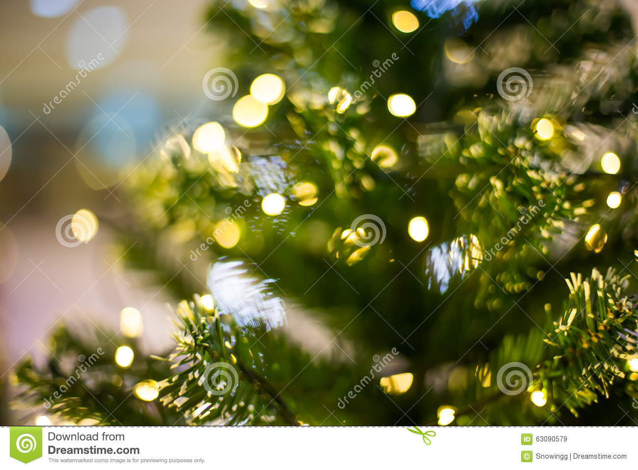 Bokeh Light On Christmas Tree, Blurred Background Stock Image ...