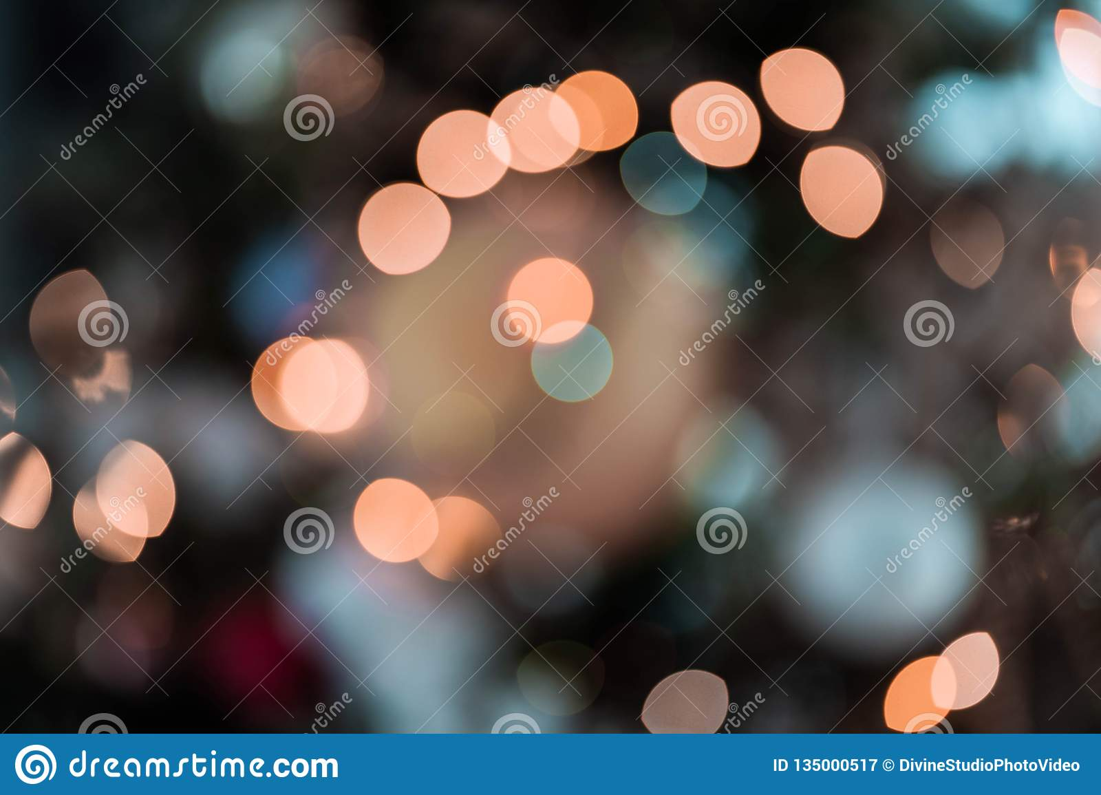 Bokeh Lights Abstract Colorful Background