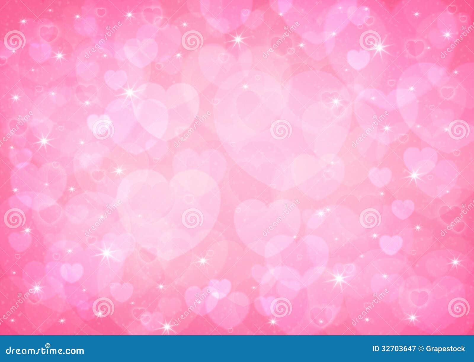 Bokeh rosado del corazón