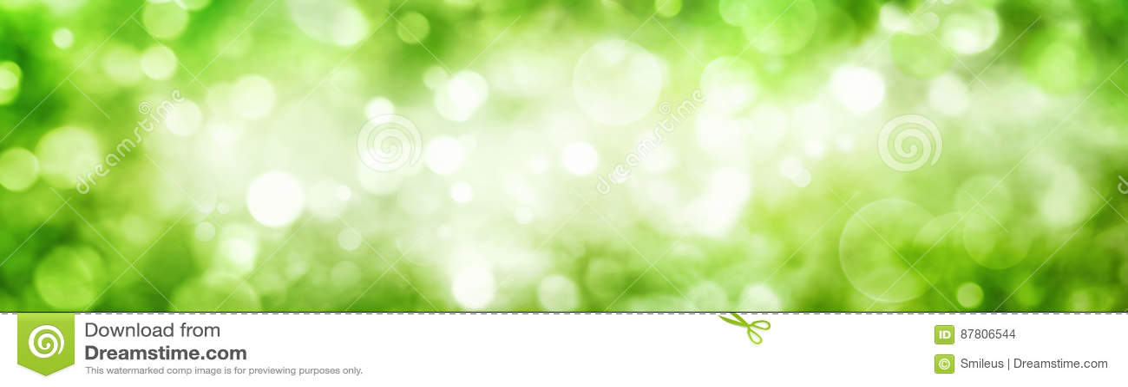 Bokeh vert de feuillage avec miroiter des points culminants