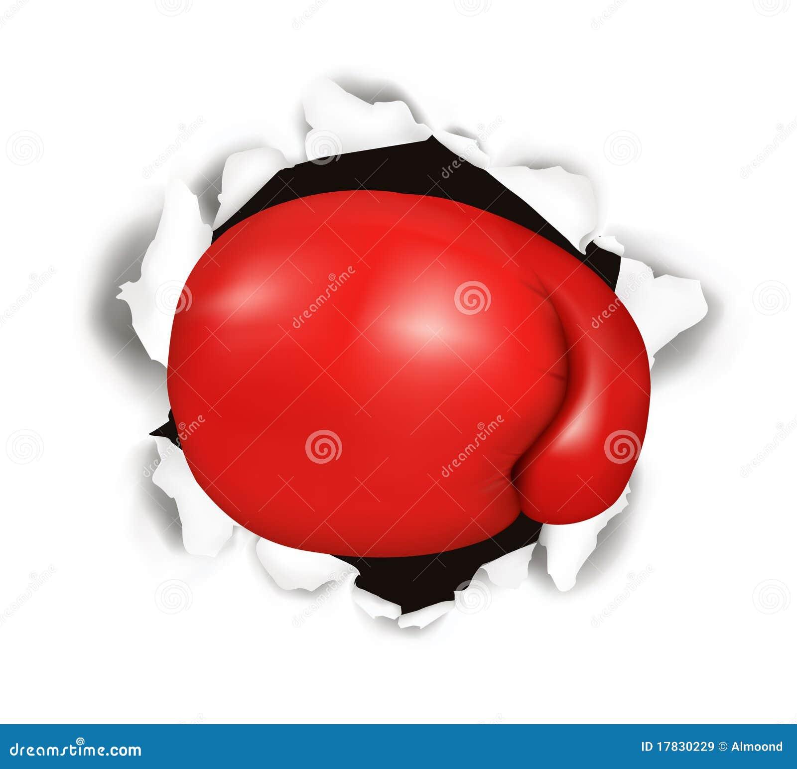 Bokserska konceptualna rękawiczkowa czerwień