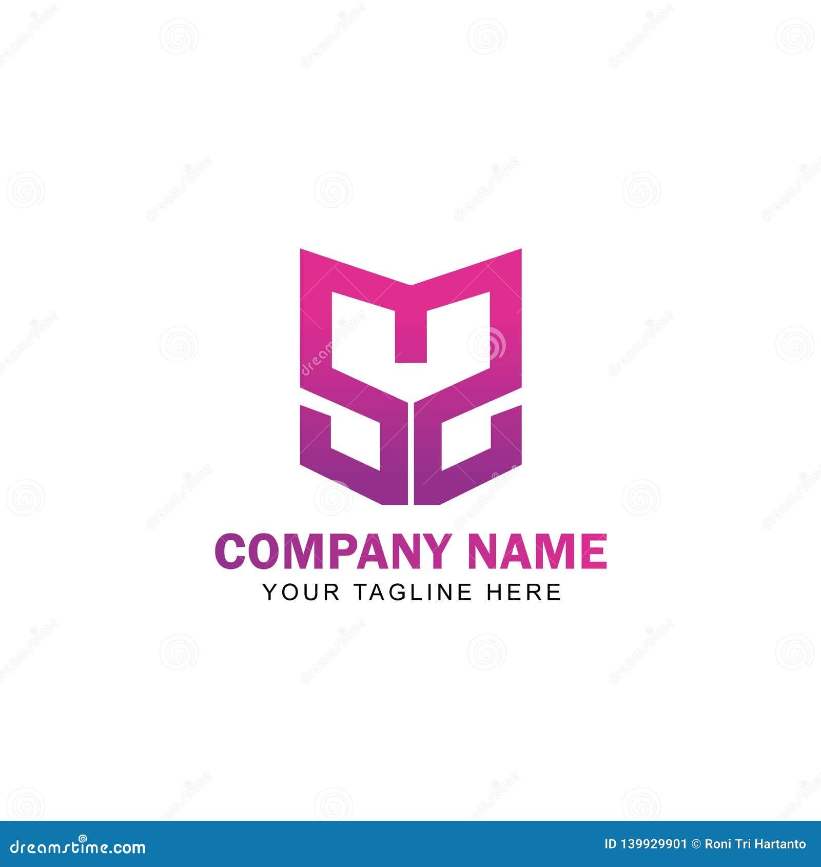 Bokstav SMS Logo Design Vector