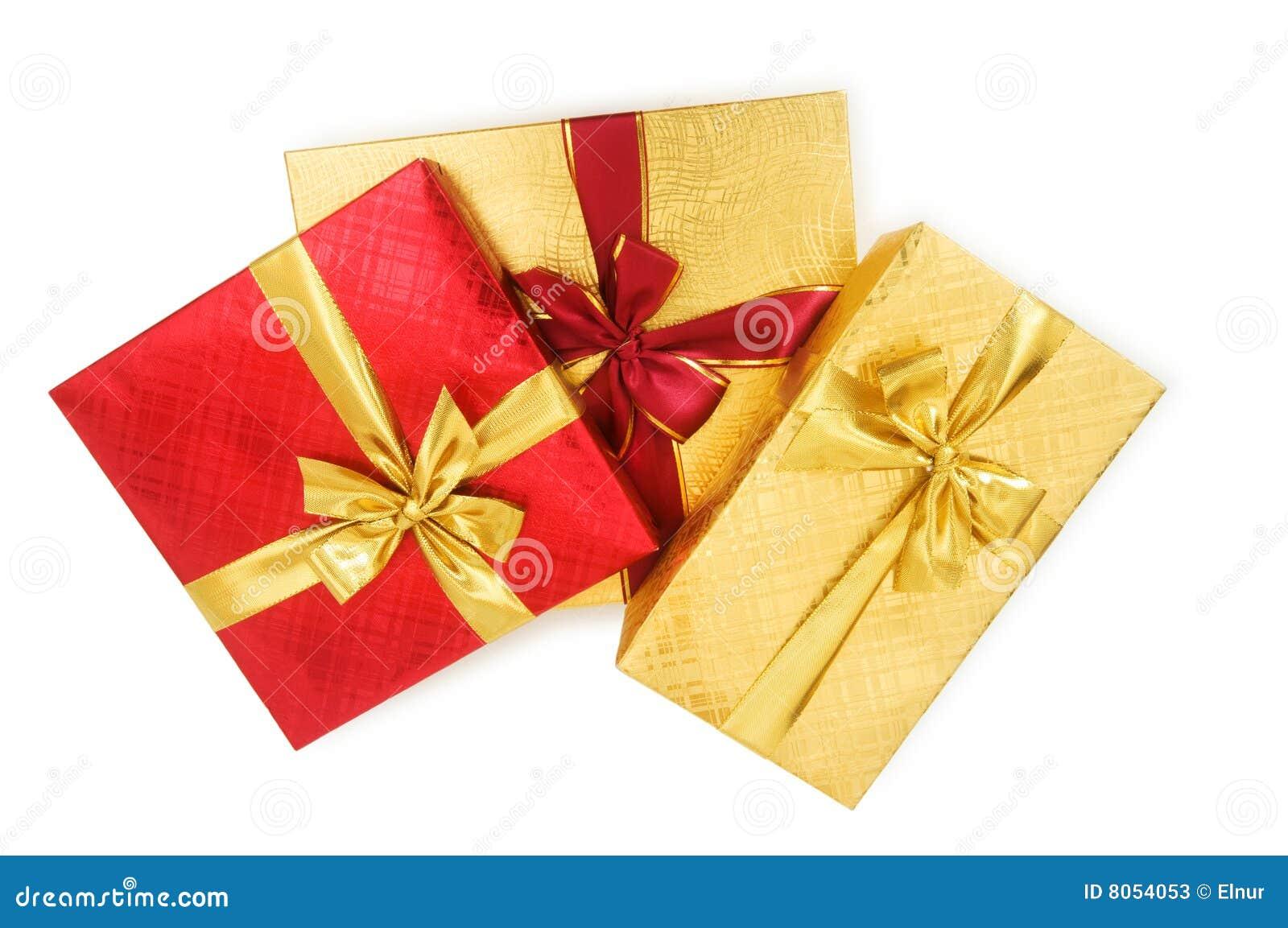 Boksuje prezent odizolowywającego