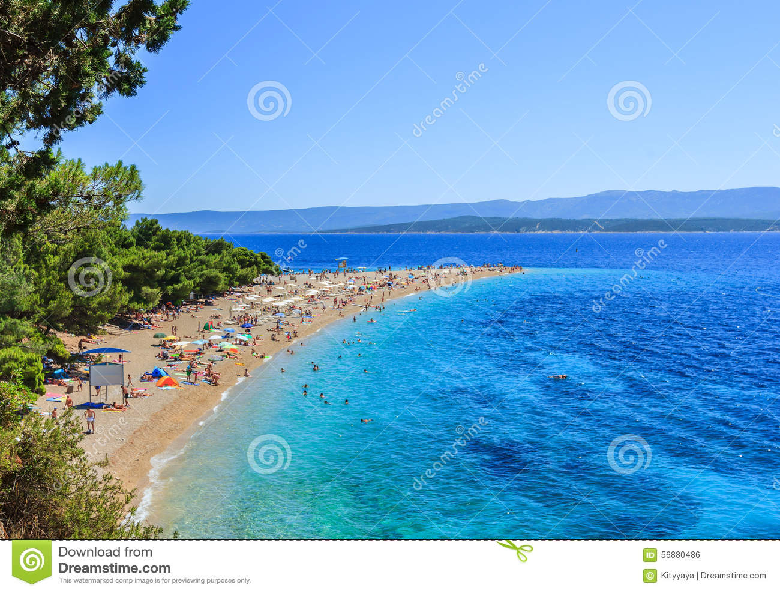 Bol海滩,克罗地亚