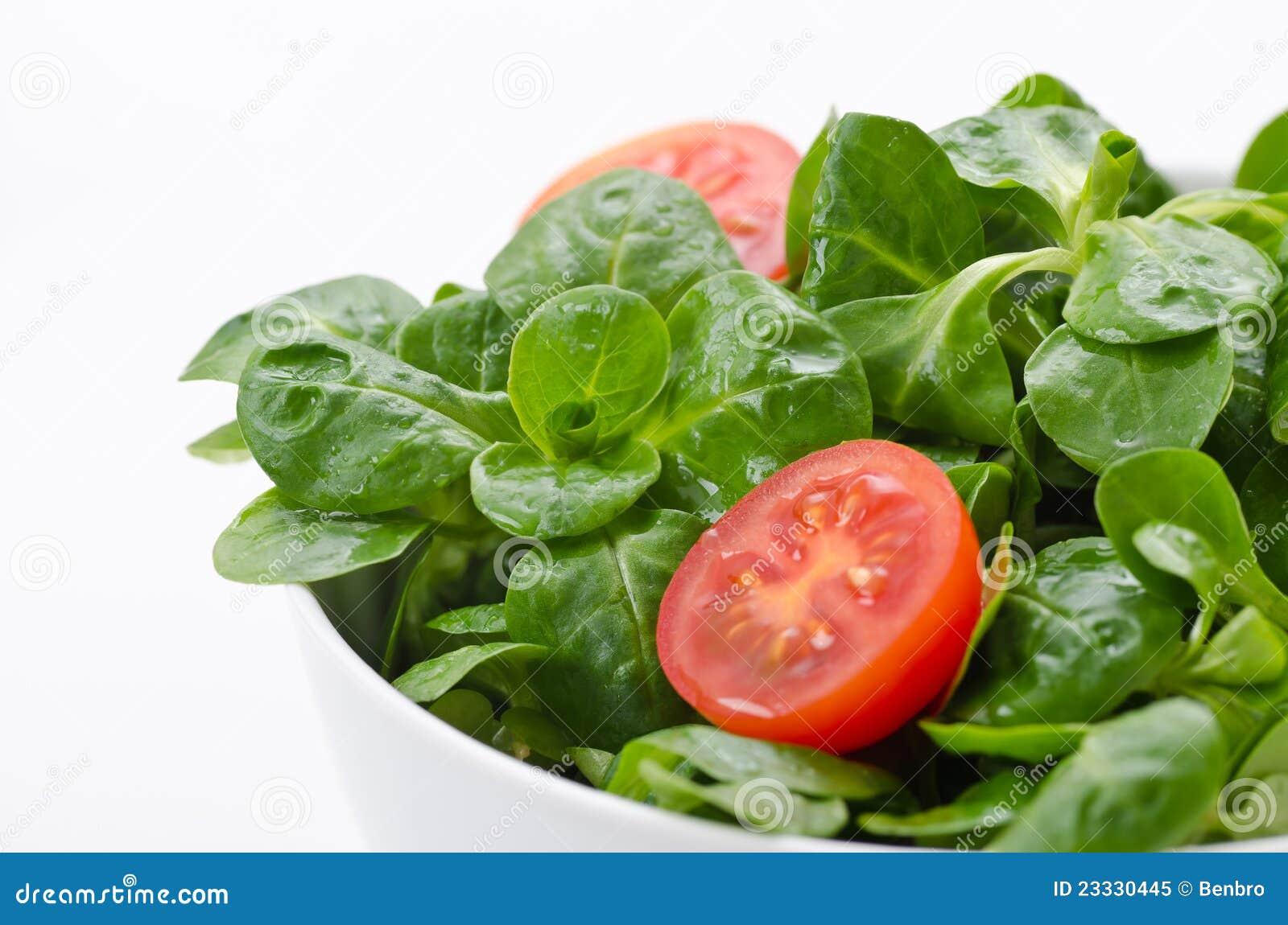 bol de salade verte et de tomates photo libre de droits image 23330445. Black Bedroom Furniture Sets. Home Design Ideas