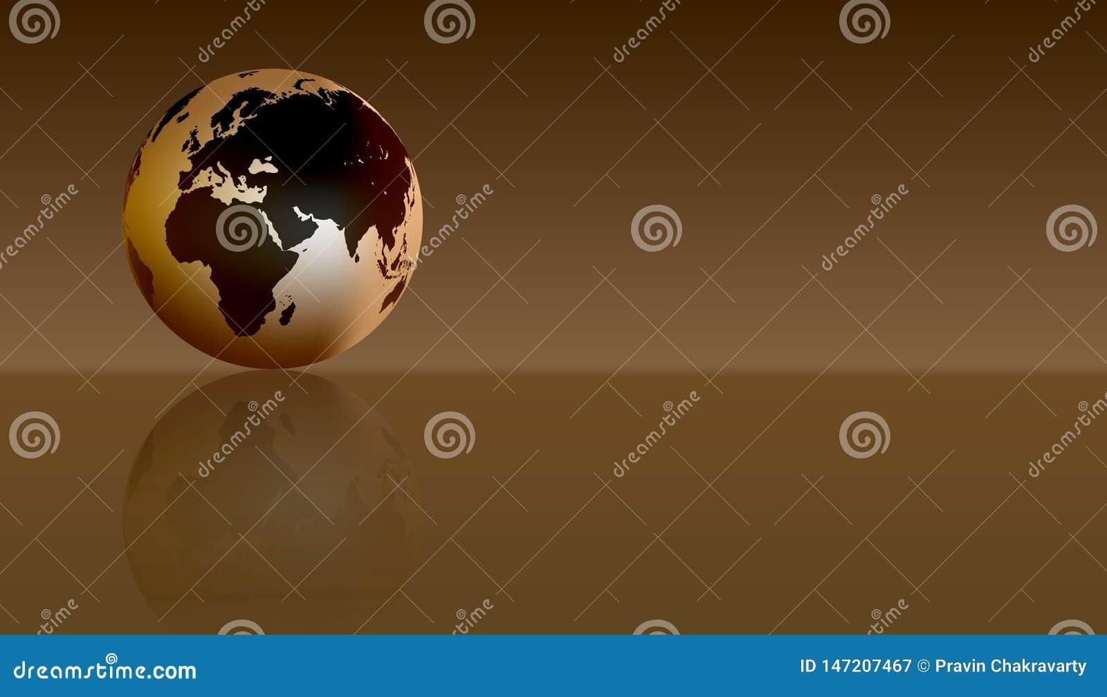 Bol Europa Afrika Vector illustratie