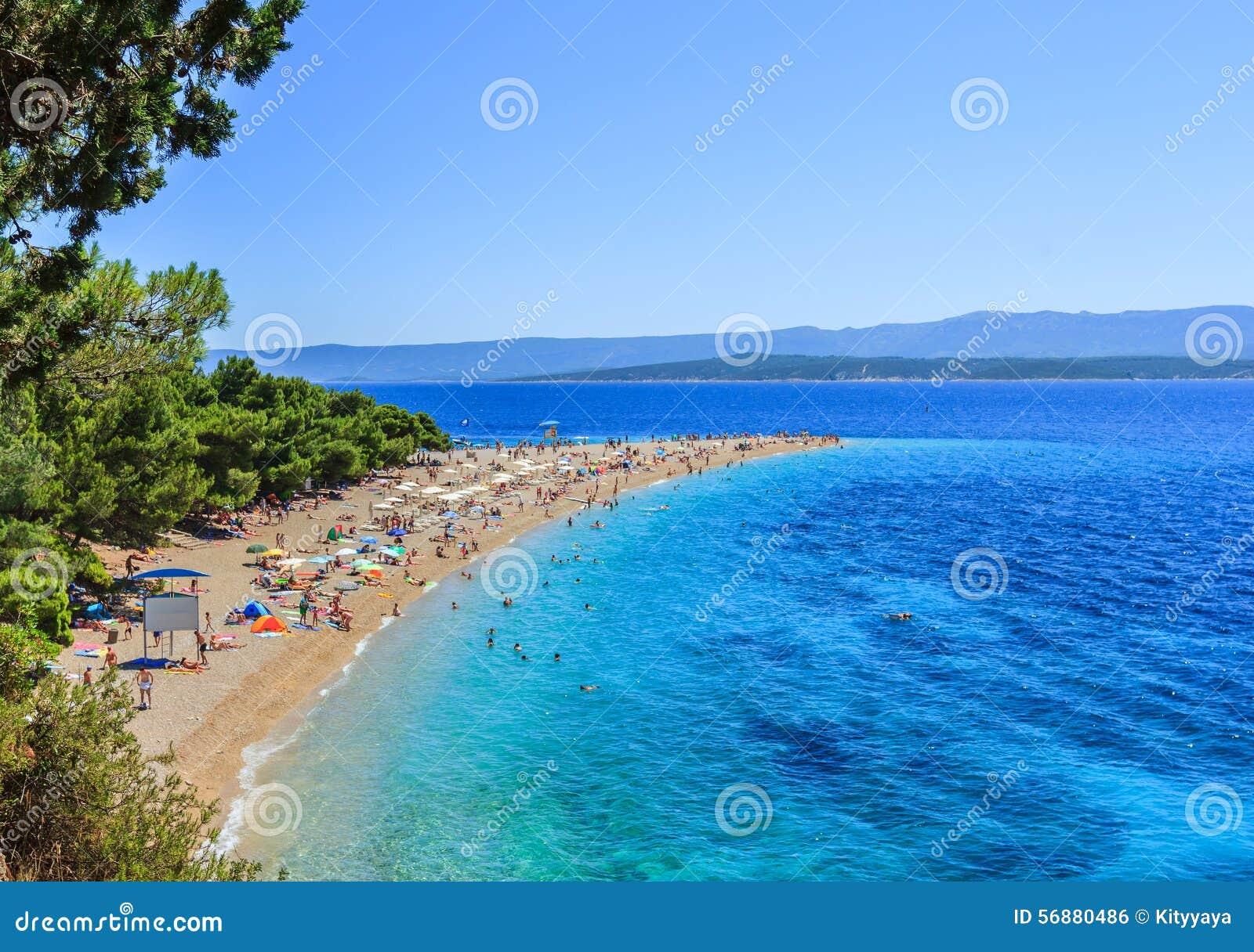 Bol plaża, Chorwacja