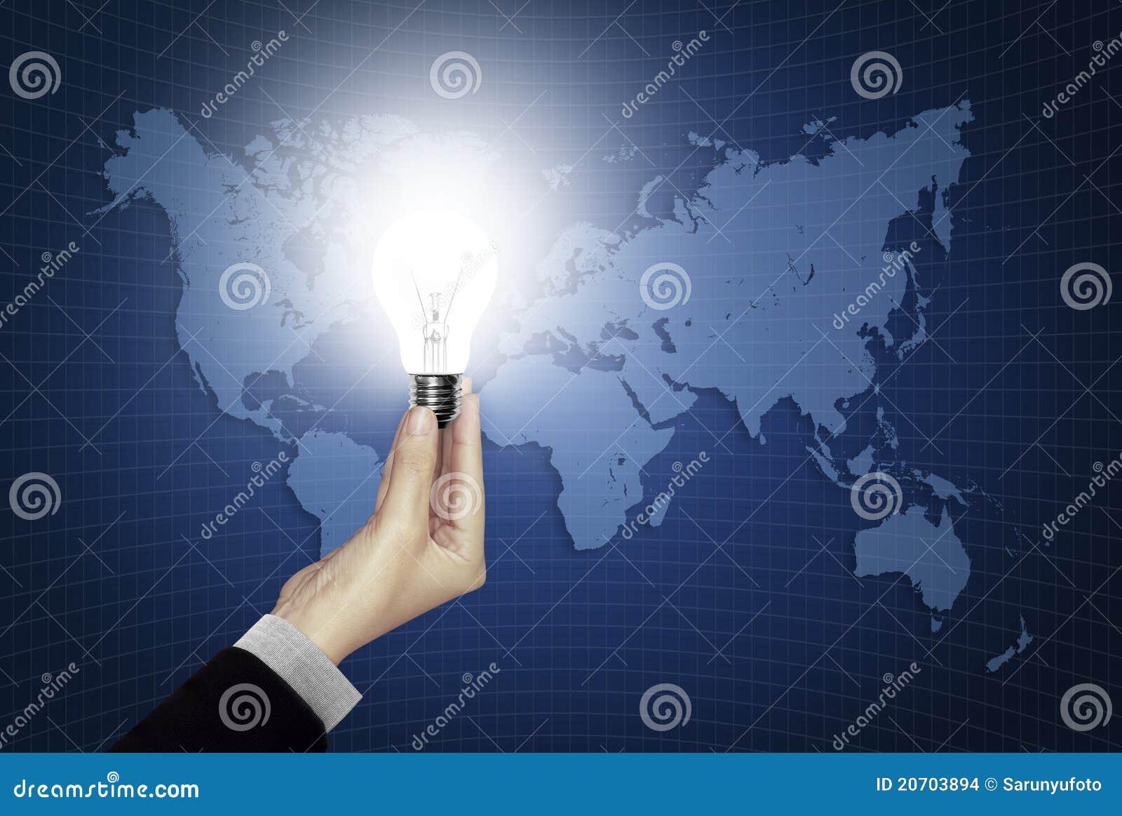 Bol ter beschikking licht op wereldkaart