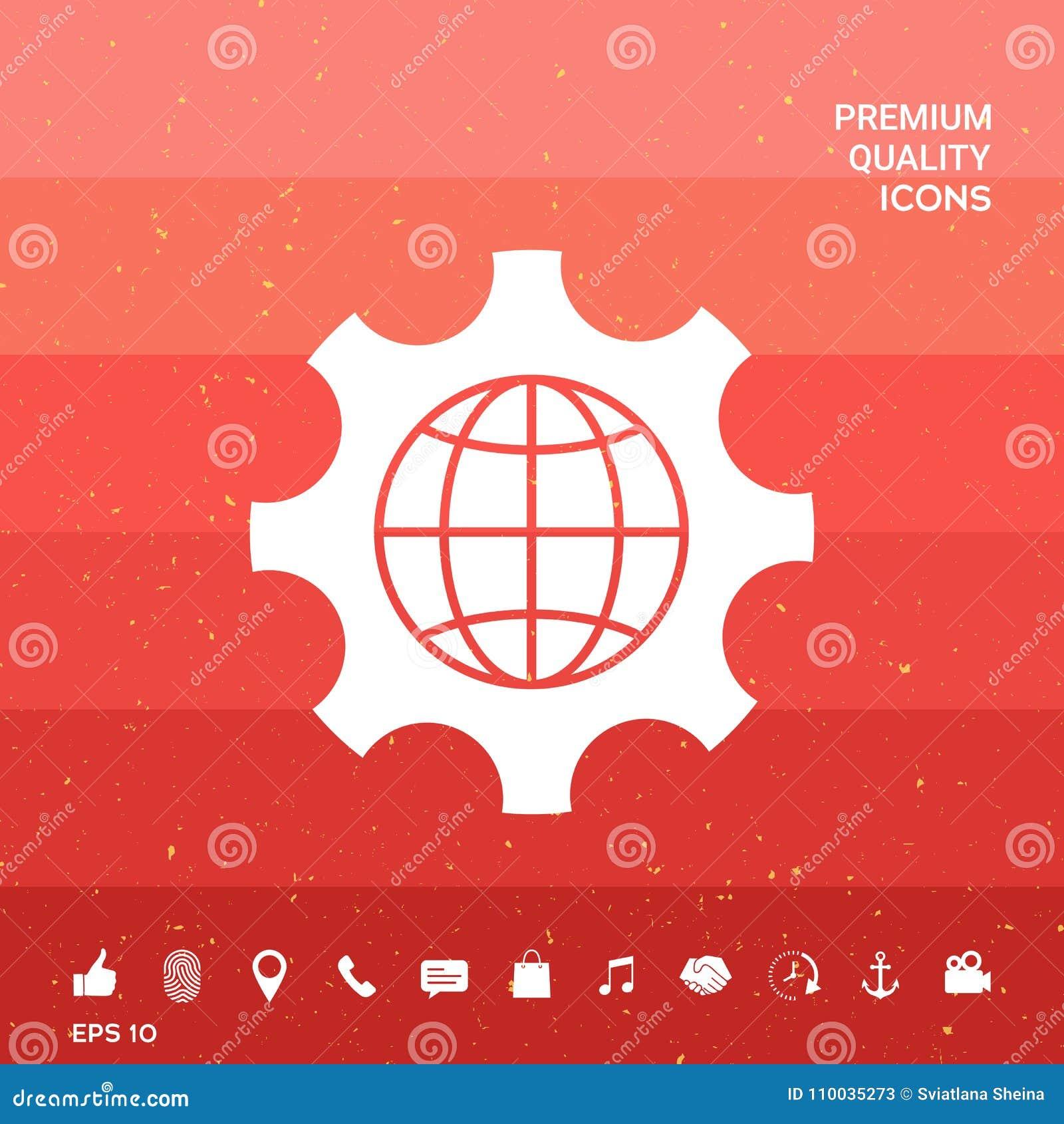 Bol van de Aarde binnen een toestel of een radertje, plaatsende parameters, Globaal Optiespictogram