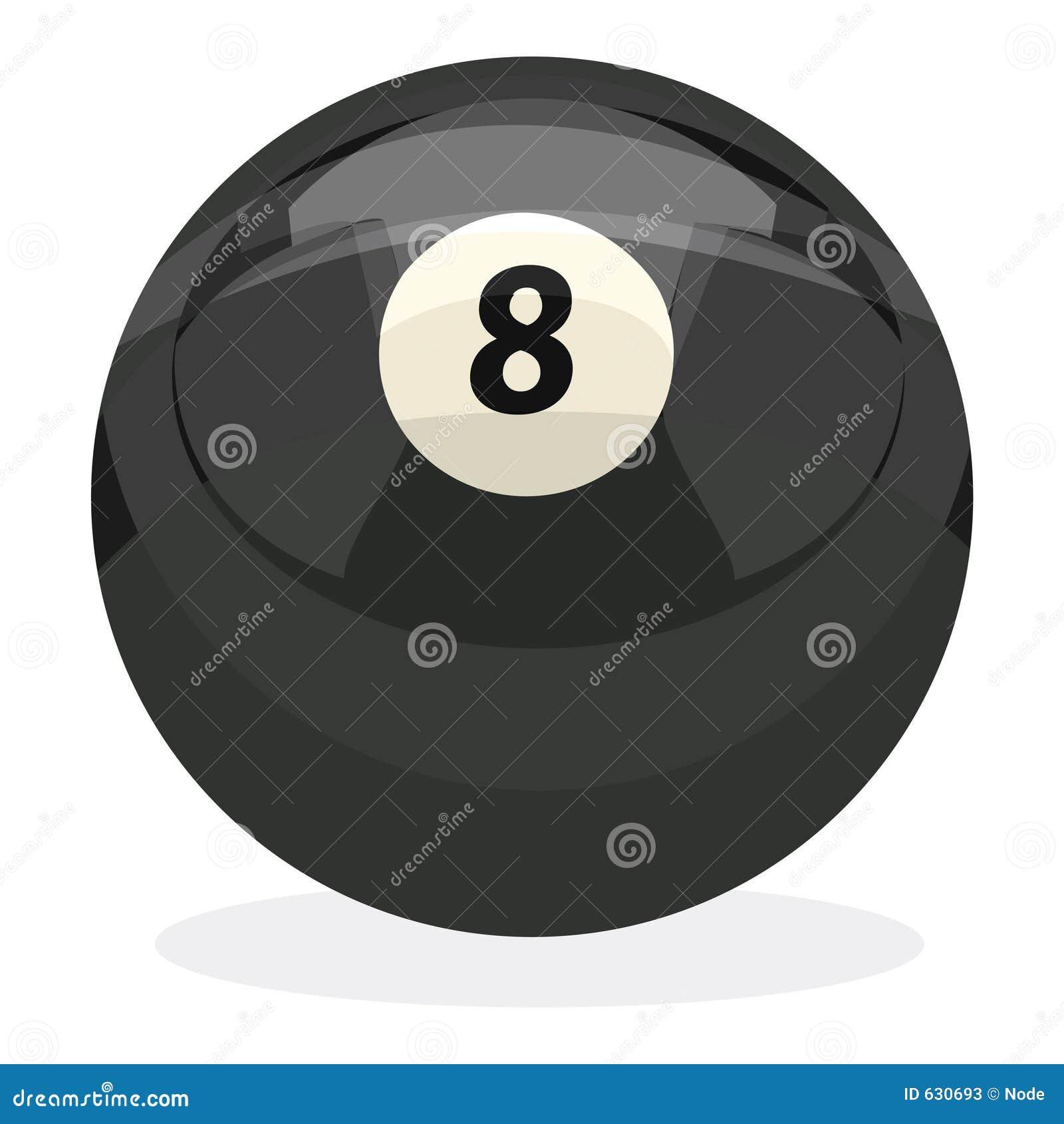 Bola 8 con el camino de recortes