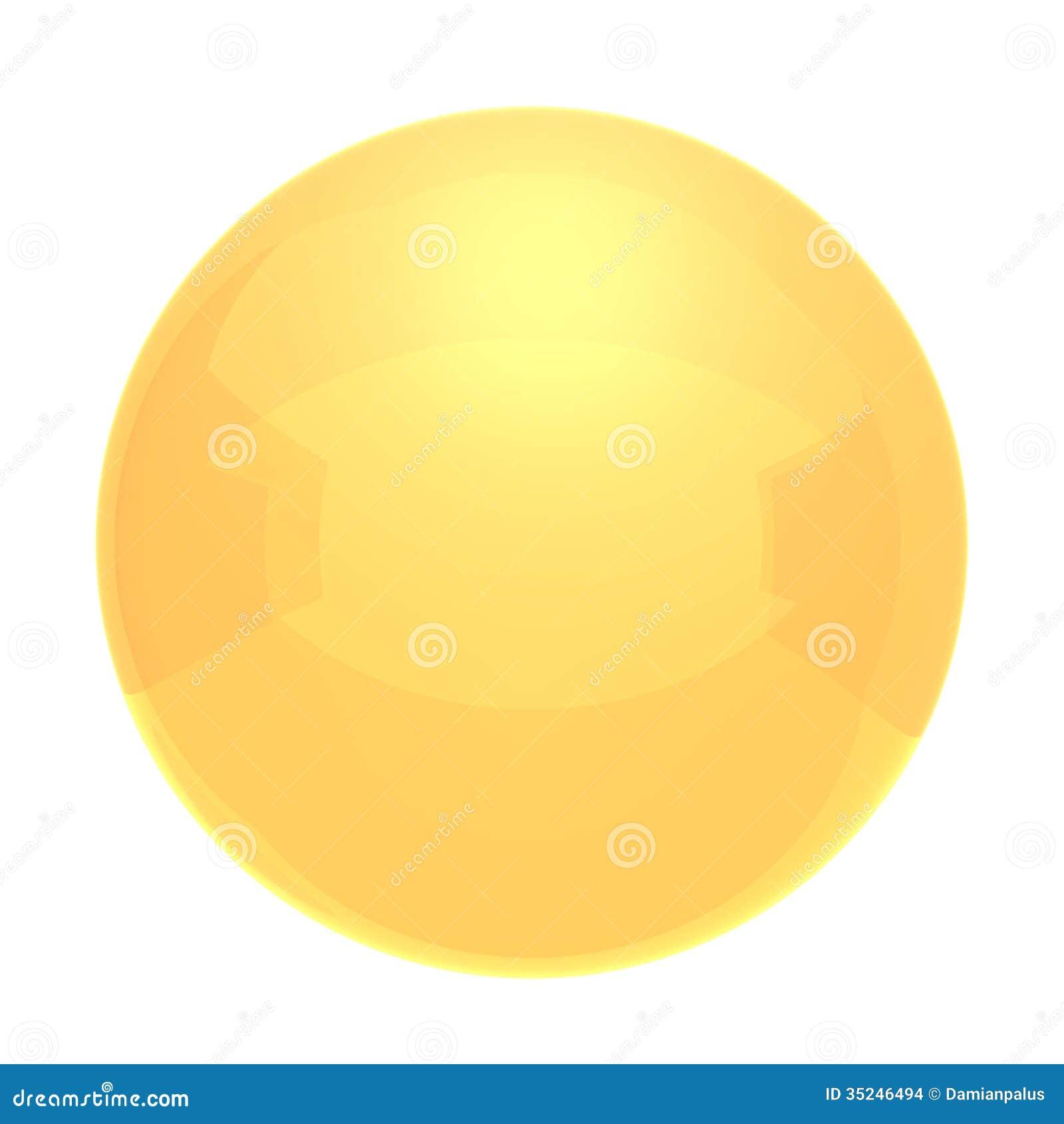 Bola Amarela Imagens de Stock - Imagem: 35246494