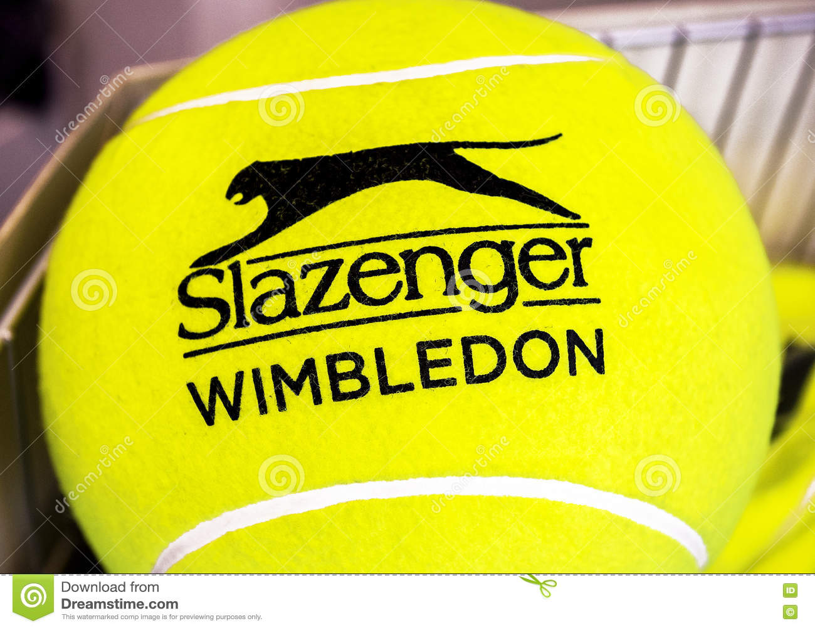 Bola amarela de Wimbledon