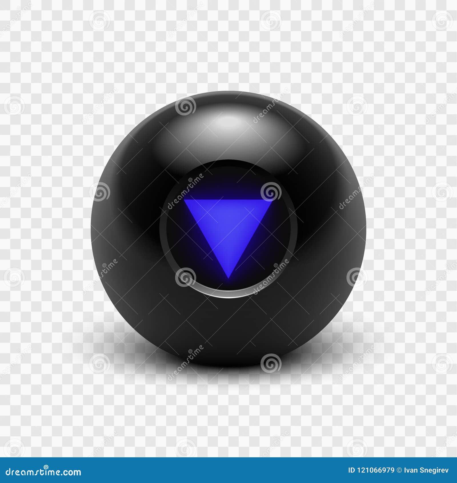 Bola da mágica 8 da ilustração do vetor oito isolado em um fundo transparente Eps 10