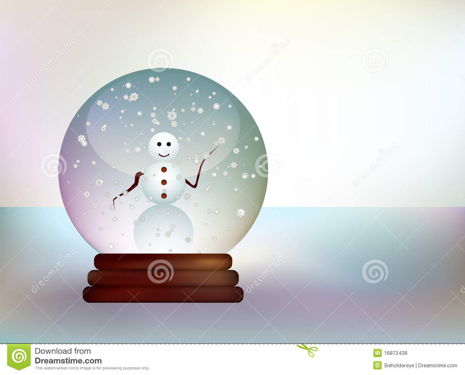 Bola de cristal con un mu eco de nieve en un paisaje nevoso - Bola nieve cristal ...