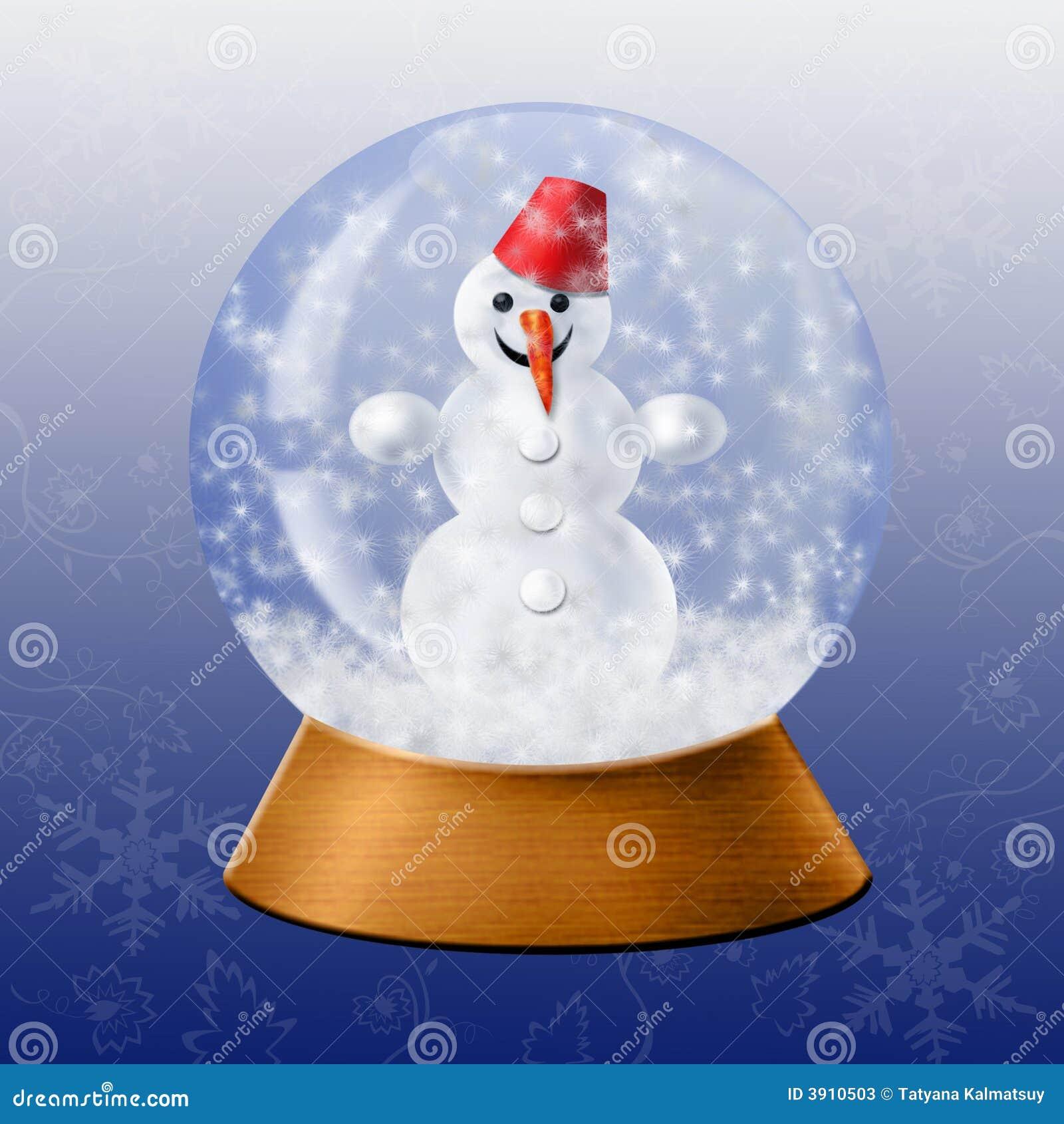 Bola de cristal de la nieve fotos de archivo imagen 3910503 - Bola nieve cristal ...