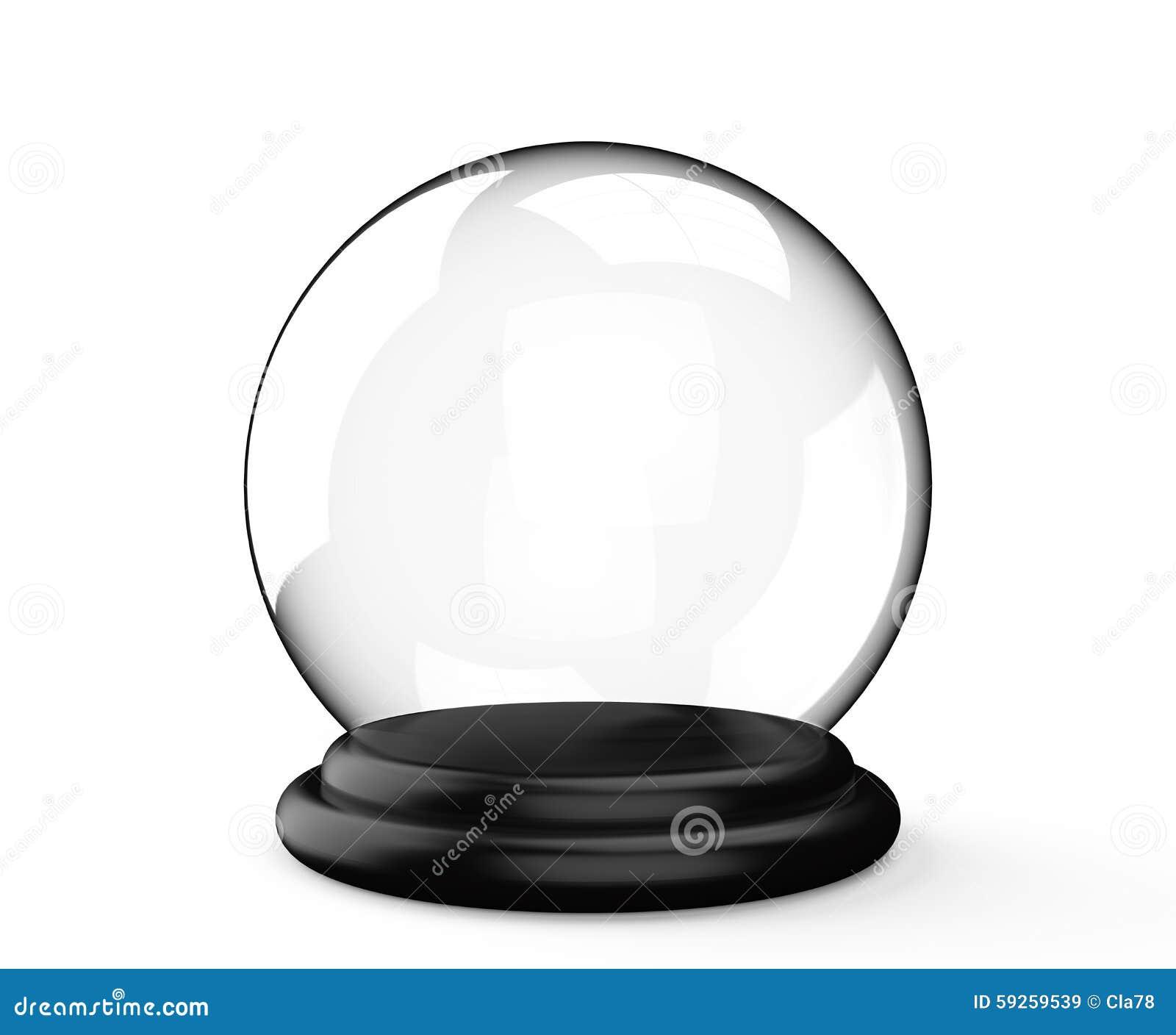 Bola de cristal m gica no fundo branco imagem de stock - Bolas de cristal personalizadas ...