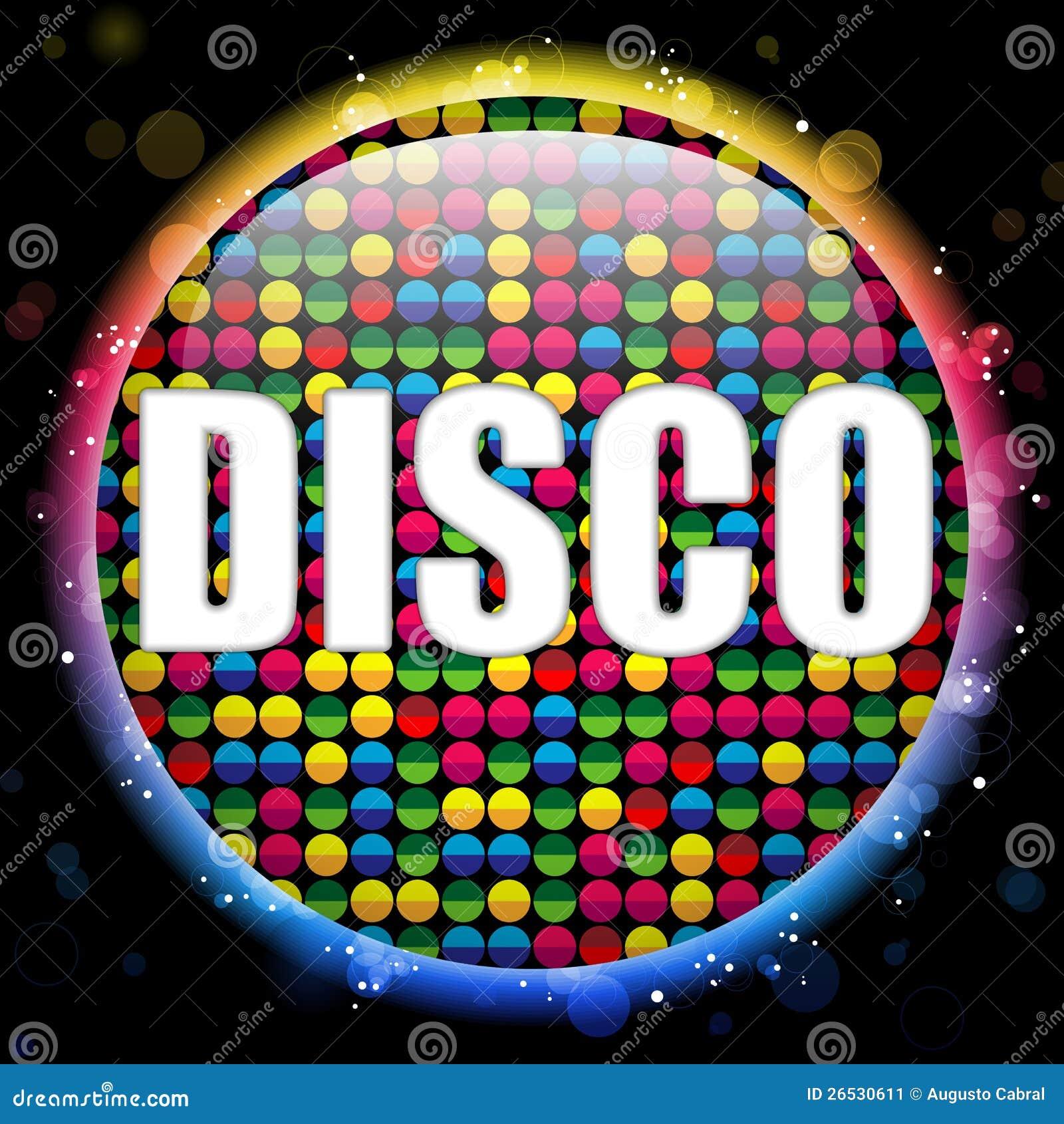 Bola de discoteca de cristal del color del c rculo imagen - Bola de discoteca de colores ...
