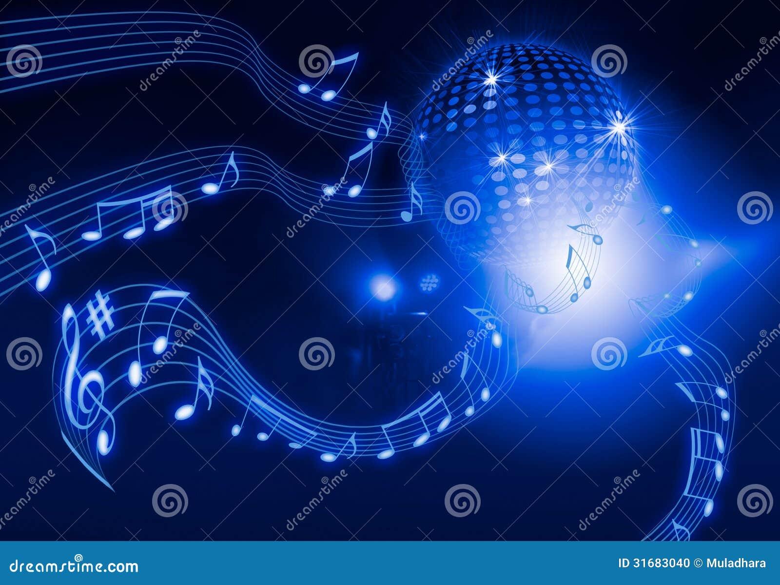 Bola de discoteca en fondo azul stock de ilustraci n - Bola de discoteca de colores ...