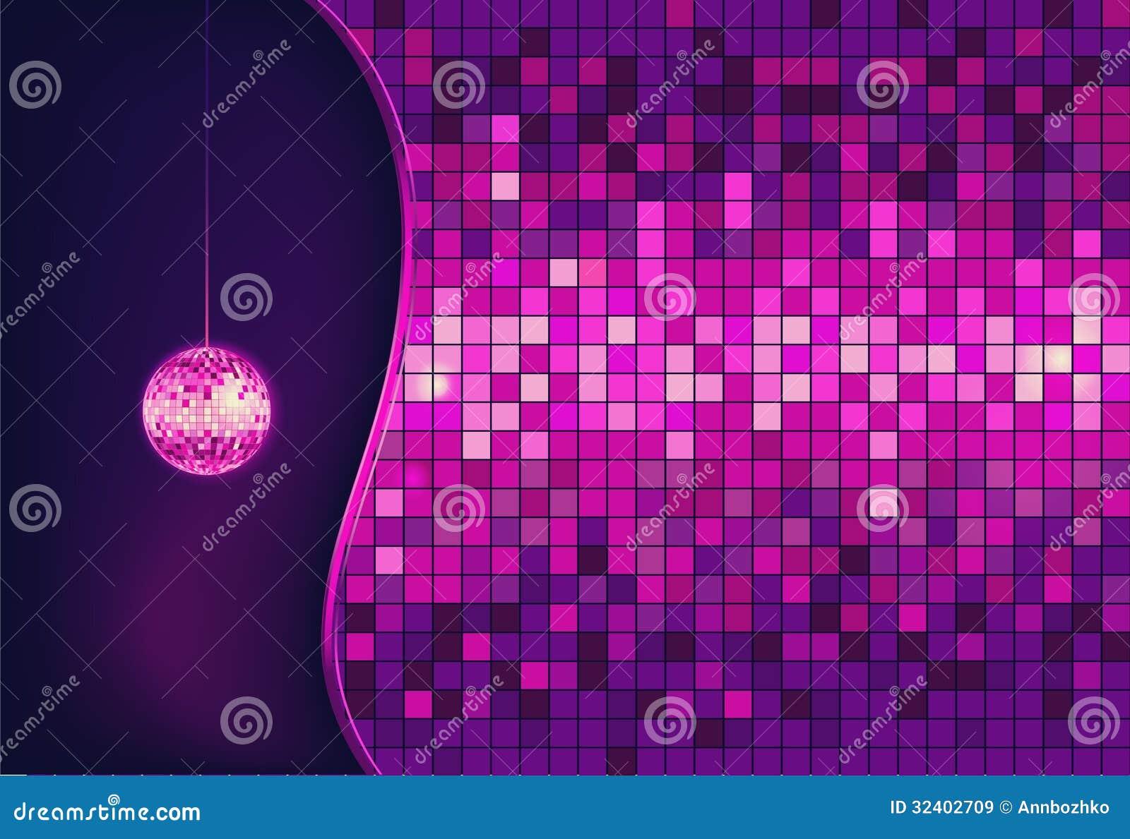 Bola de discoteca fondo del disco ilustraci n del vector - Bola de discoteca de colores ...