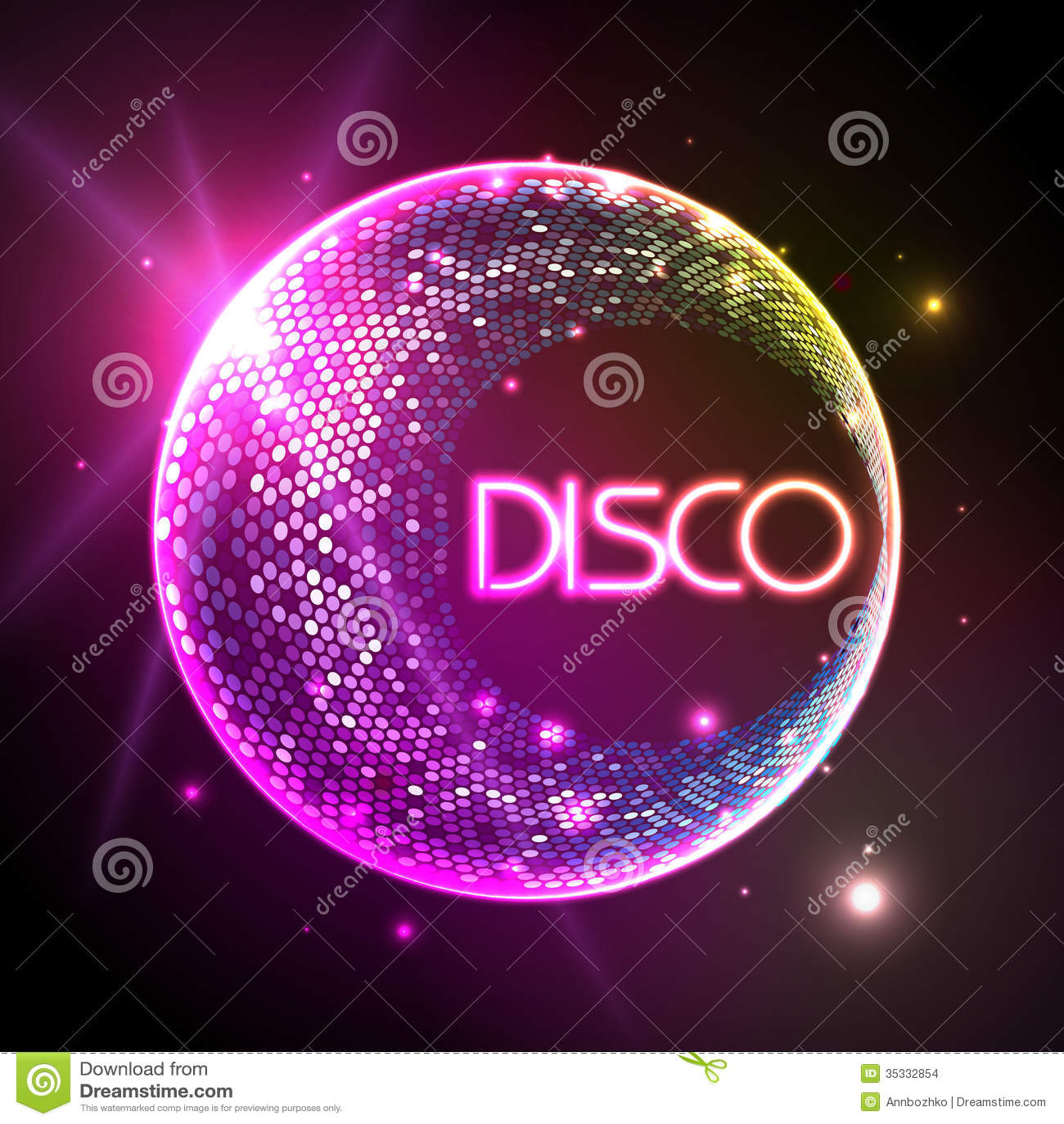 Bola de discoteca fondo del disco imagenes de archivo - Bola de discoteca de colores ...