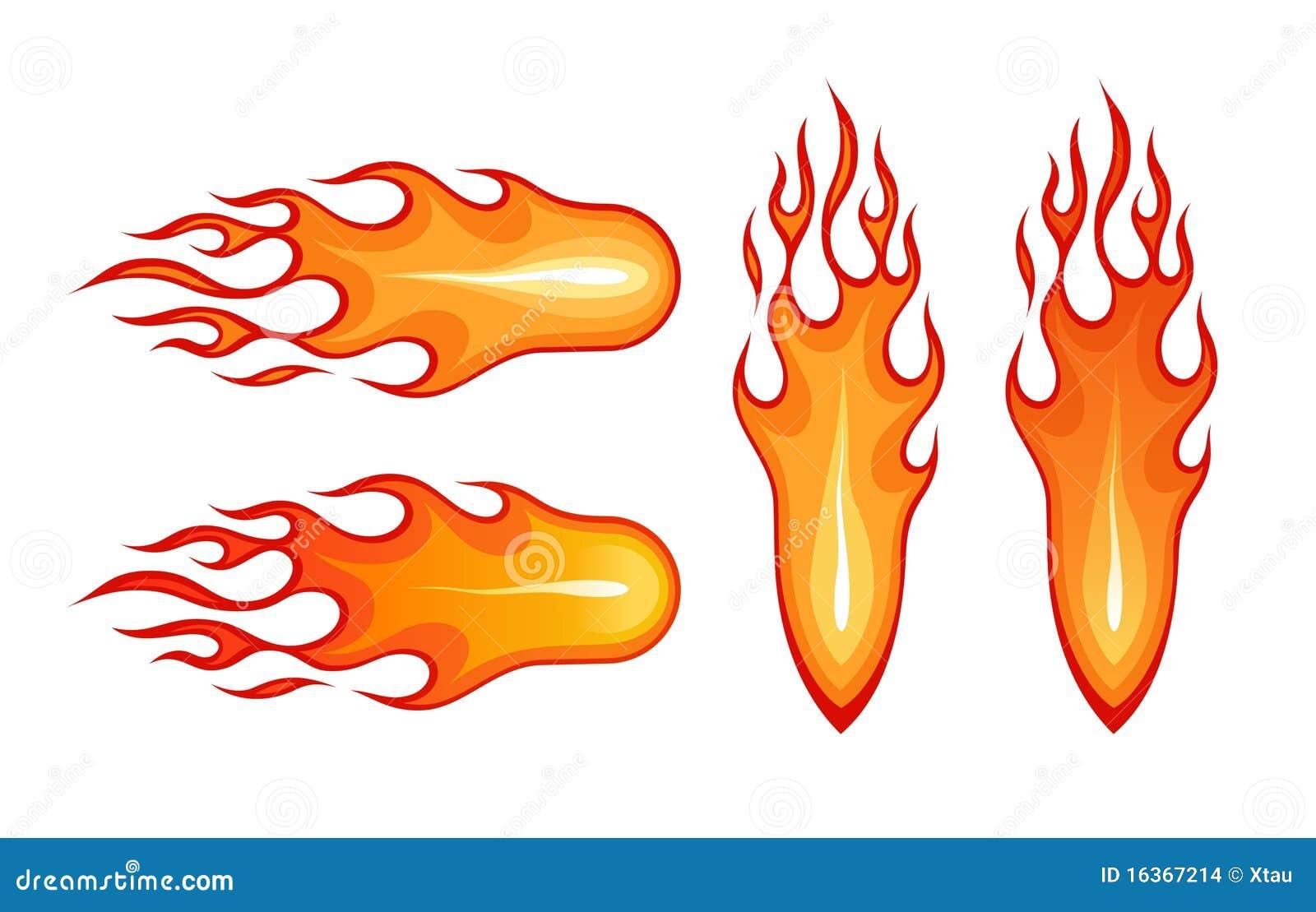 A bola de fogo e a flama