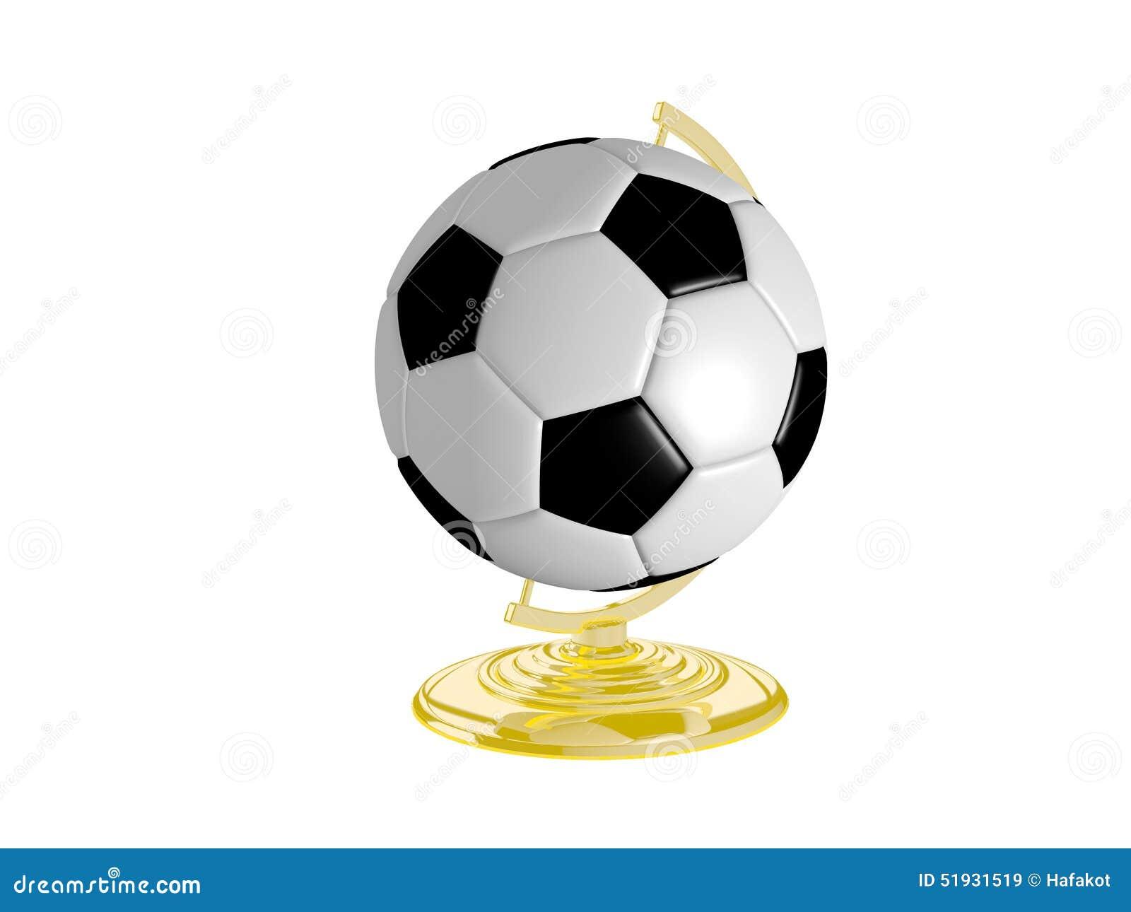 Bola de futebol no suporte do globo ilustração stock ilustração jpg  1300x1065 Suporte para bola de b28f6b2d76482