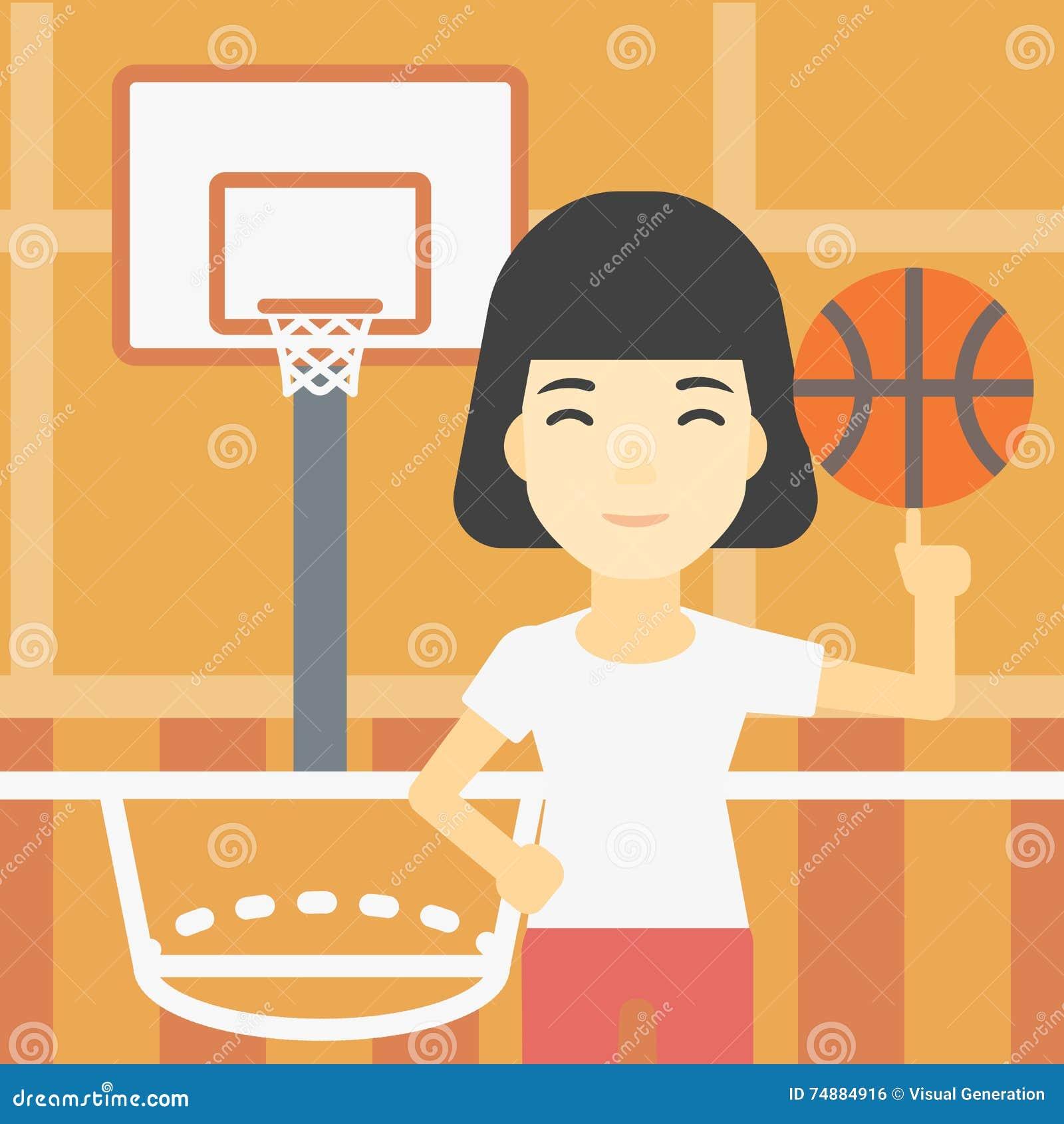 Bola de giro do jogador de basquetebol