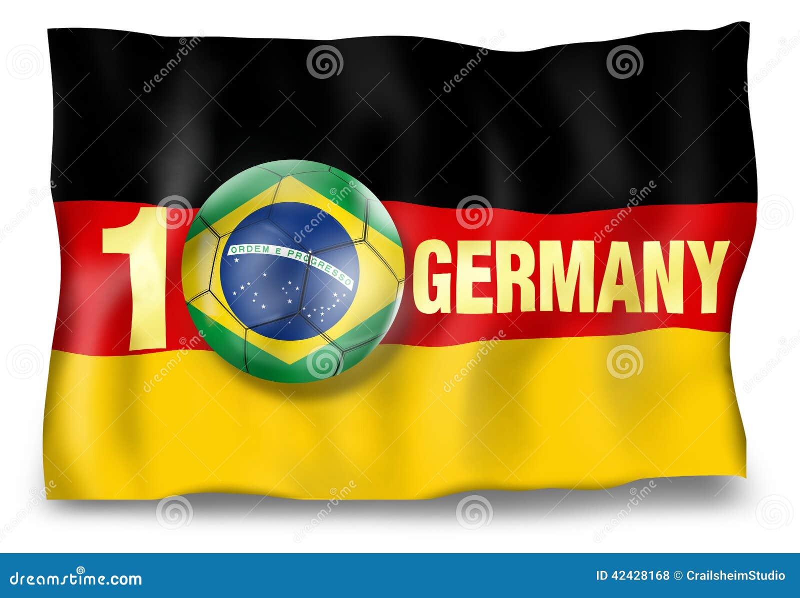 Bola de la bandera de Alemania del ganador