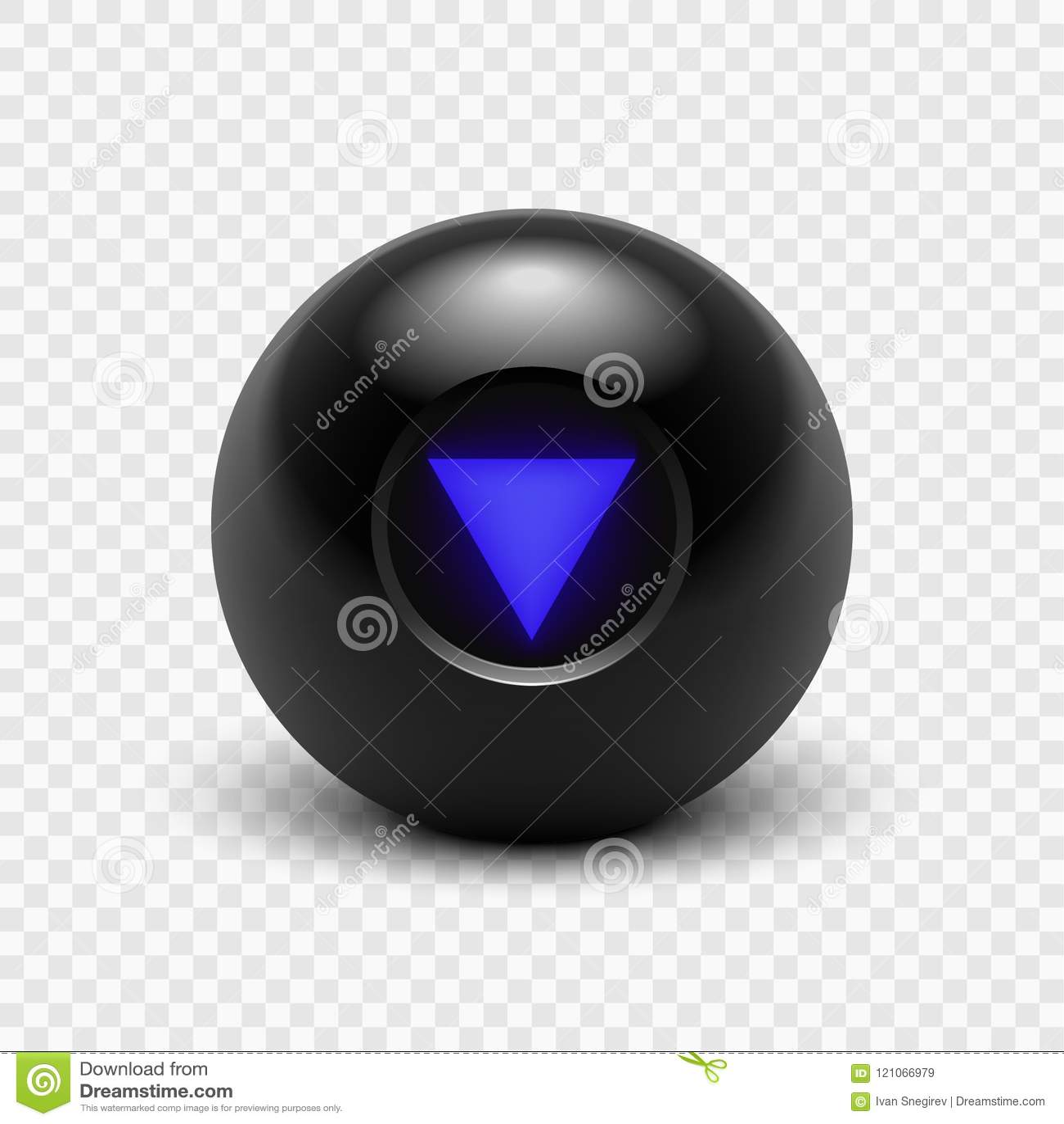 Bola de la magia 8 del ejemplo del vector ocho aislado en un fondo transparente EPS 10