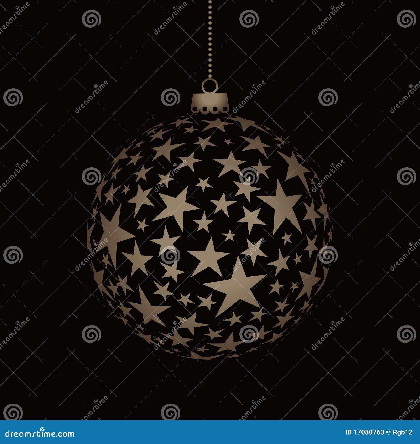 Bola de la Navidad con las estrellas