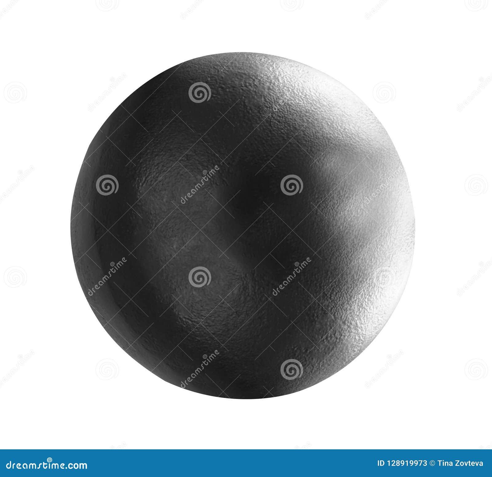 Bola de metal aislada en blanco