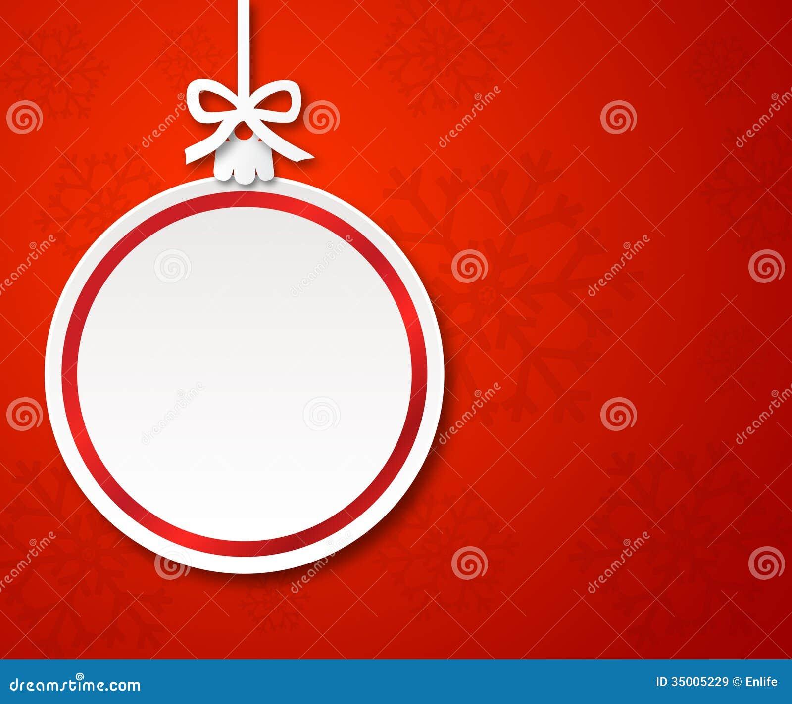 Bola de papel de la navidad en el fondo rojo 1 im genes de - Bolas navidad de papel ...