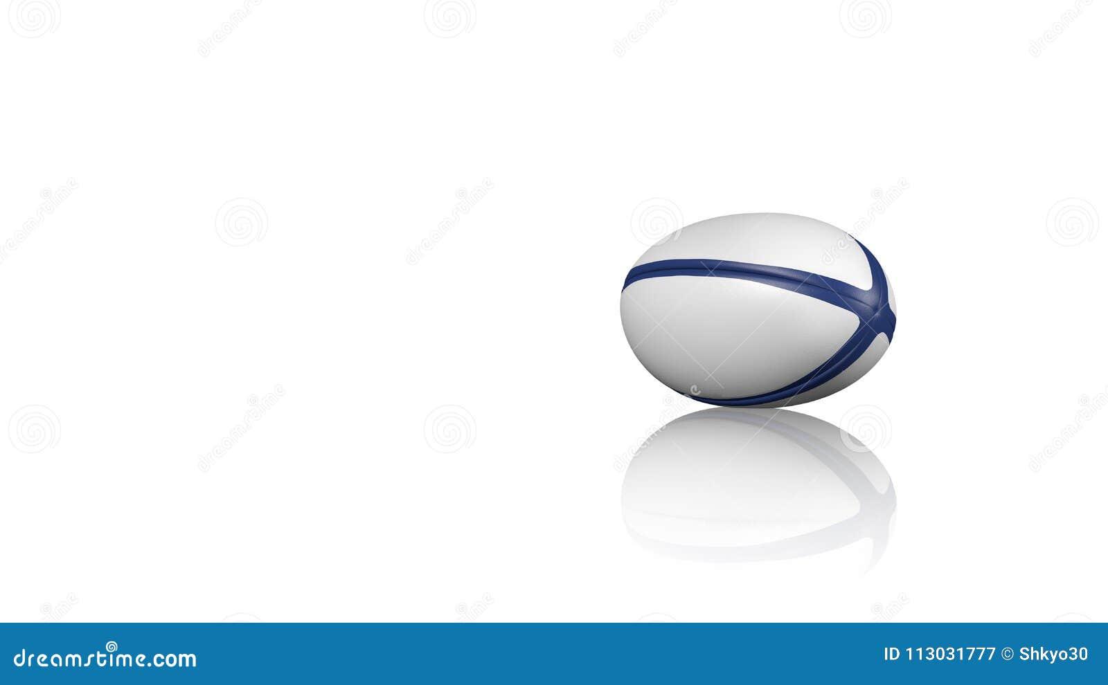 Bola de rugbi en un piso reflector