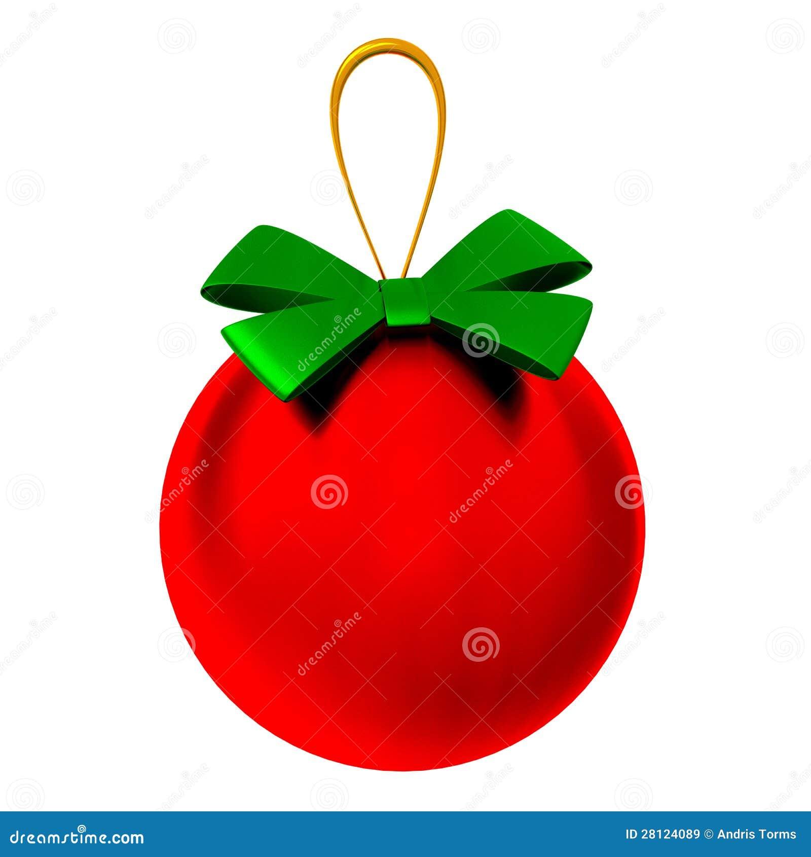 Bola del rbol de navidad 3d stock de ilustraci n for Arbol de navidad con bolas rojas