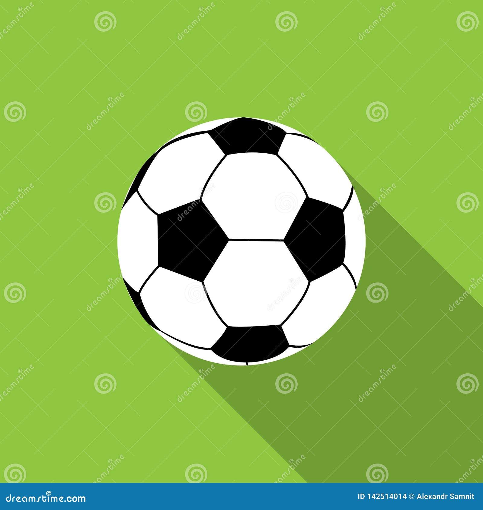 Bola del balompié en fondo verde