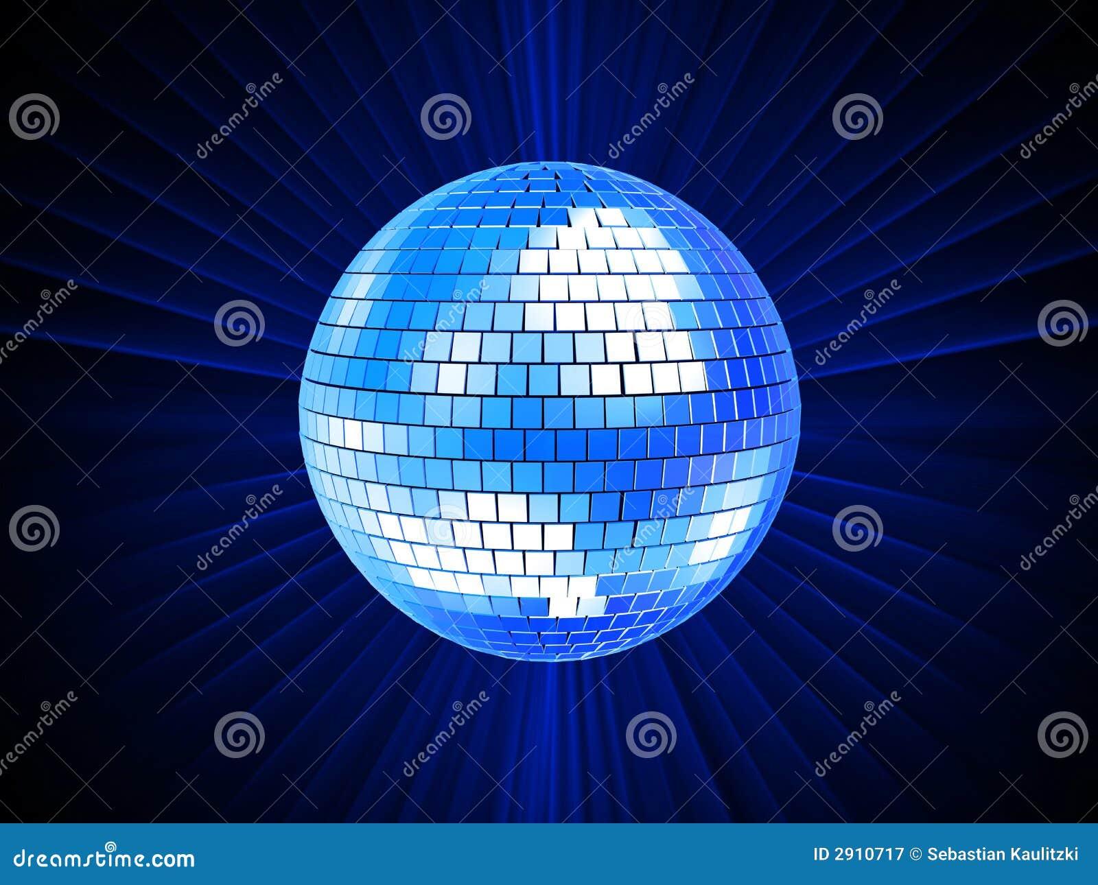 Bola del disco 3d fotograf a de archivo libre de regal as - Bola de discoteca de colores ...