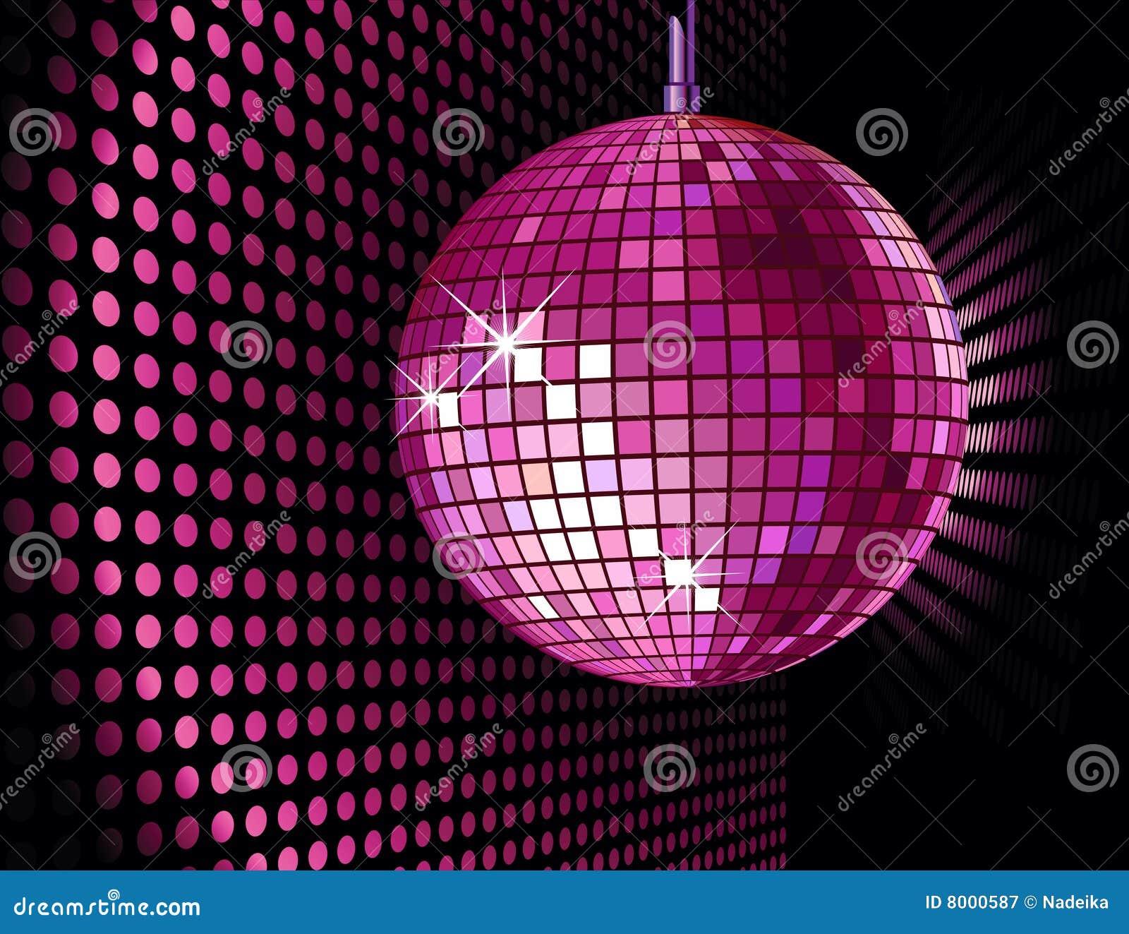 Bola del disco fotograf a de archivo libre de regal as - Bola de discoteca de colores ...