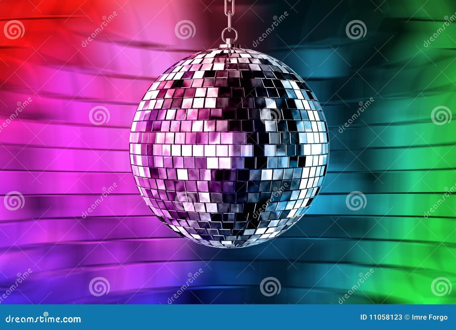 Bola del disco con las luces fotos de archivo imagen - Bola de discoteca de colores ...