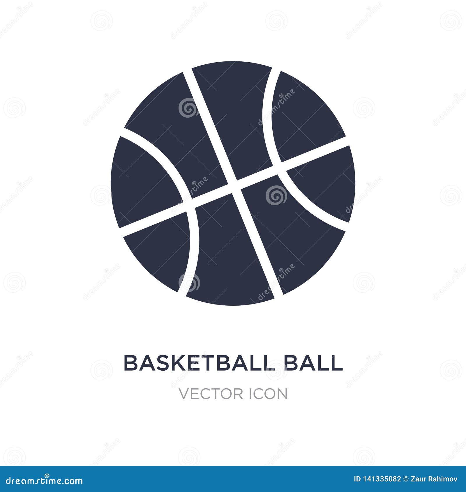 Bola do basquetebol com linha ícone no fundo branco Ilustração simples do elemento do conceito dos esportes