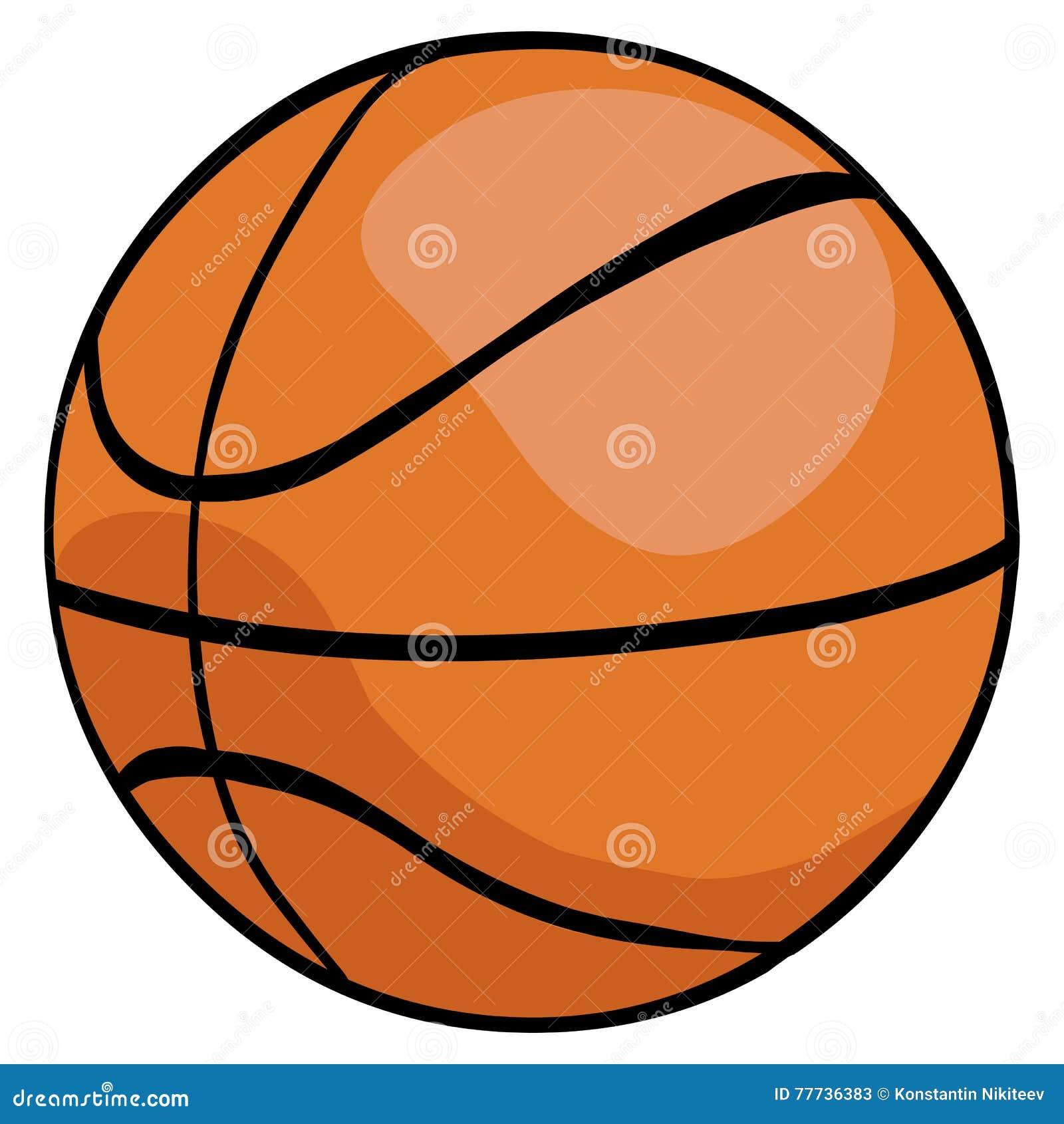 bola do basquetebol dos desenhos animados do vetor única ilustração